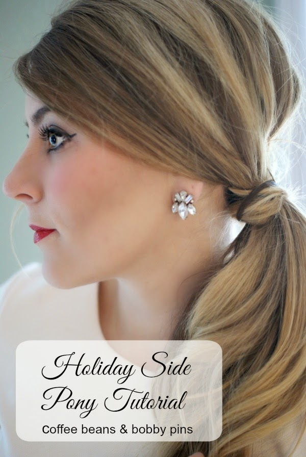 Side Pony Holiday Hair Tutorial