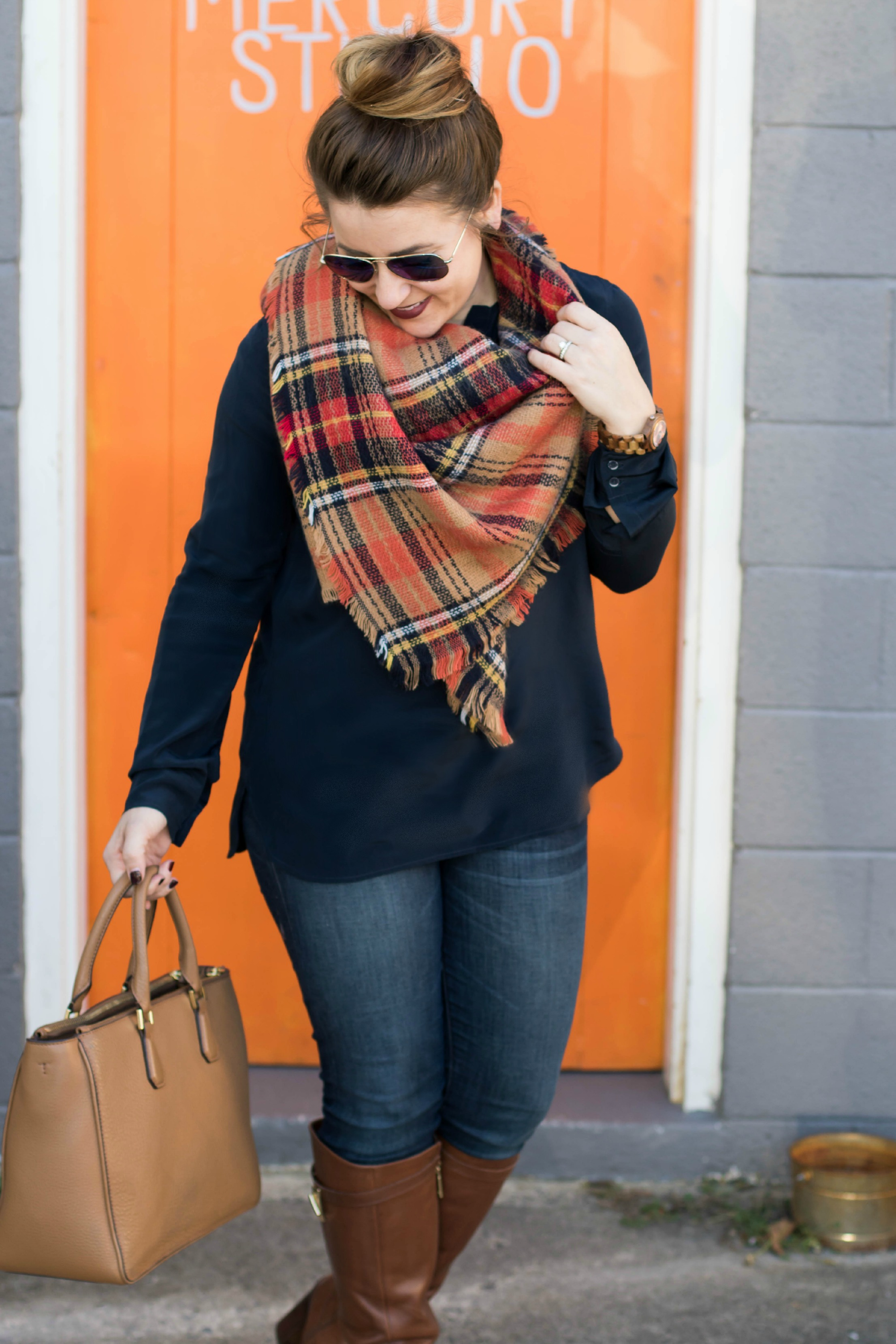 Blanket Scarves and Wooden Watches