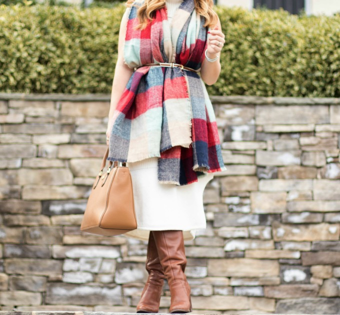 How to wear a blanket scarf 1