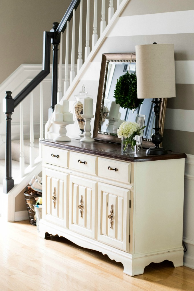 Annie Sloan Chalk Paint: Buffet Makeover by lifestyle blogger Amy of Coffee Beans and Bobby Pins