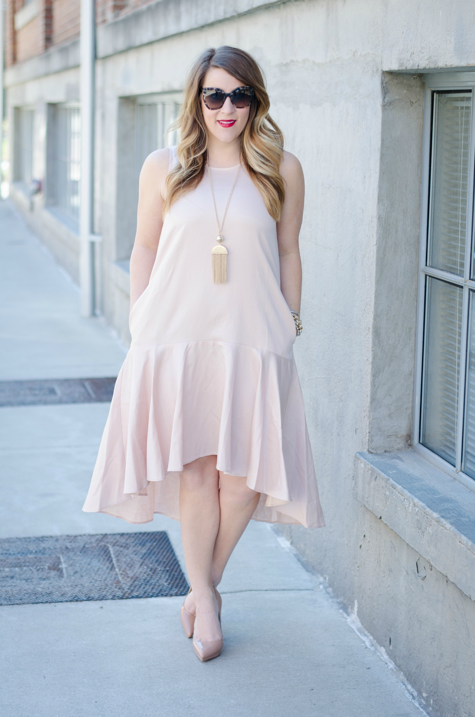 Dress with pockets for spring