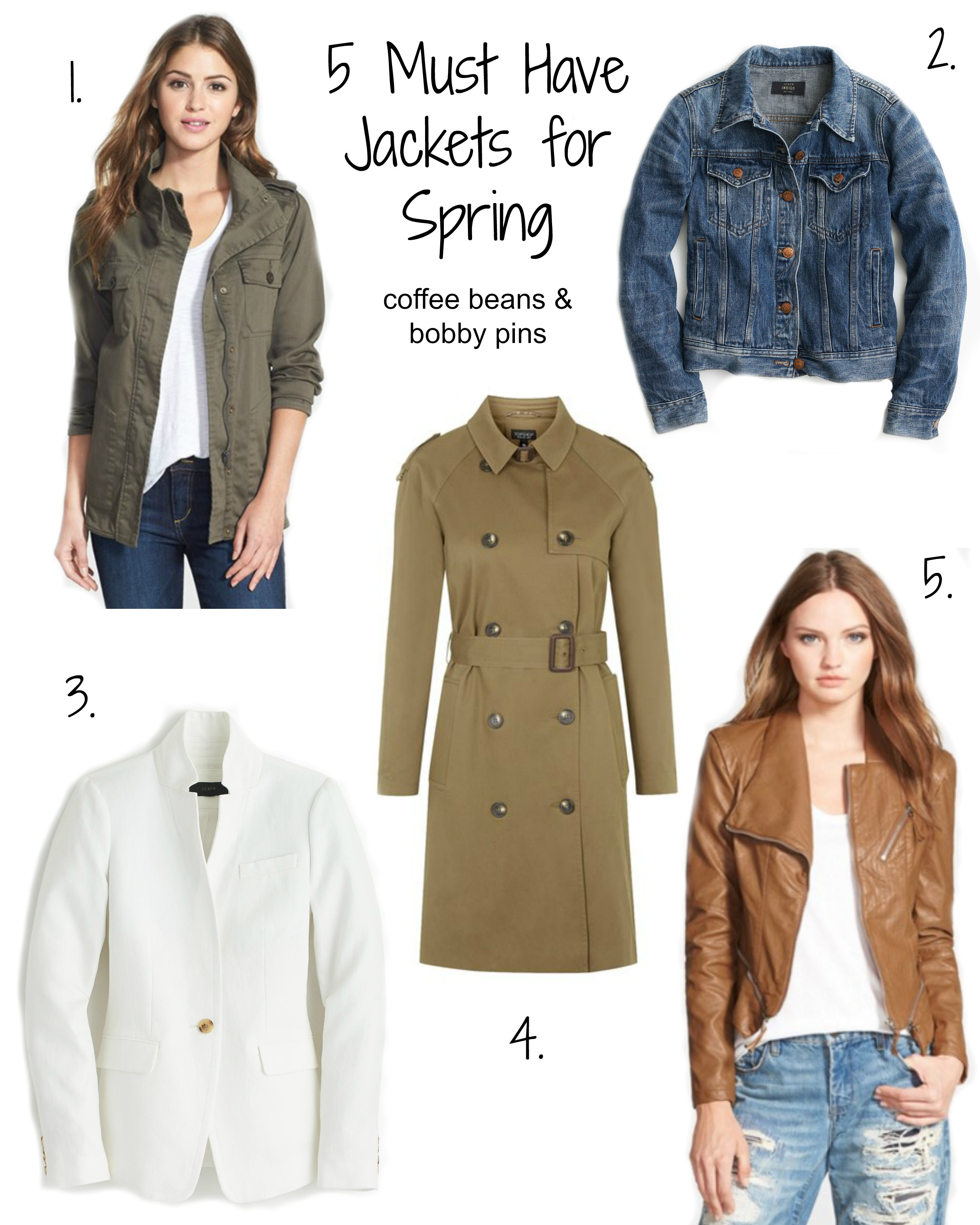 5 Must Have Jackets for Spring