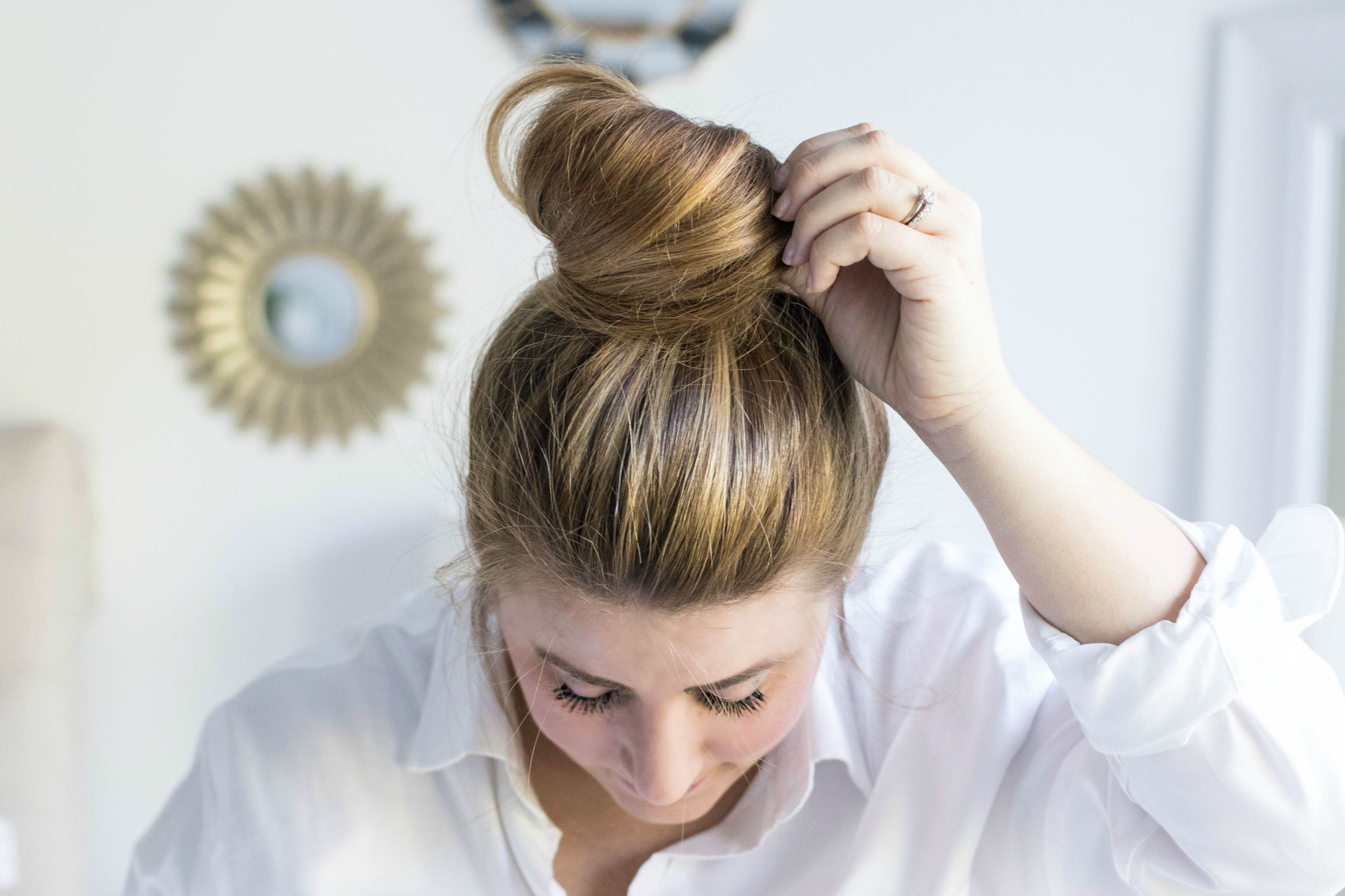 Carrie Bradshaw Bun tutorial by fashion blogger Amy of Coffee Beans and Bobby Pins