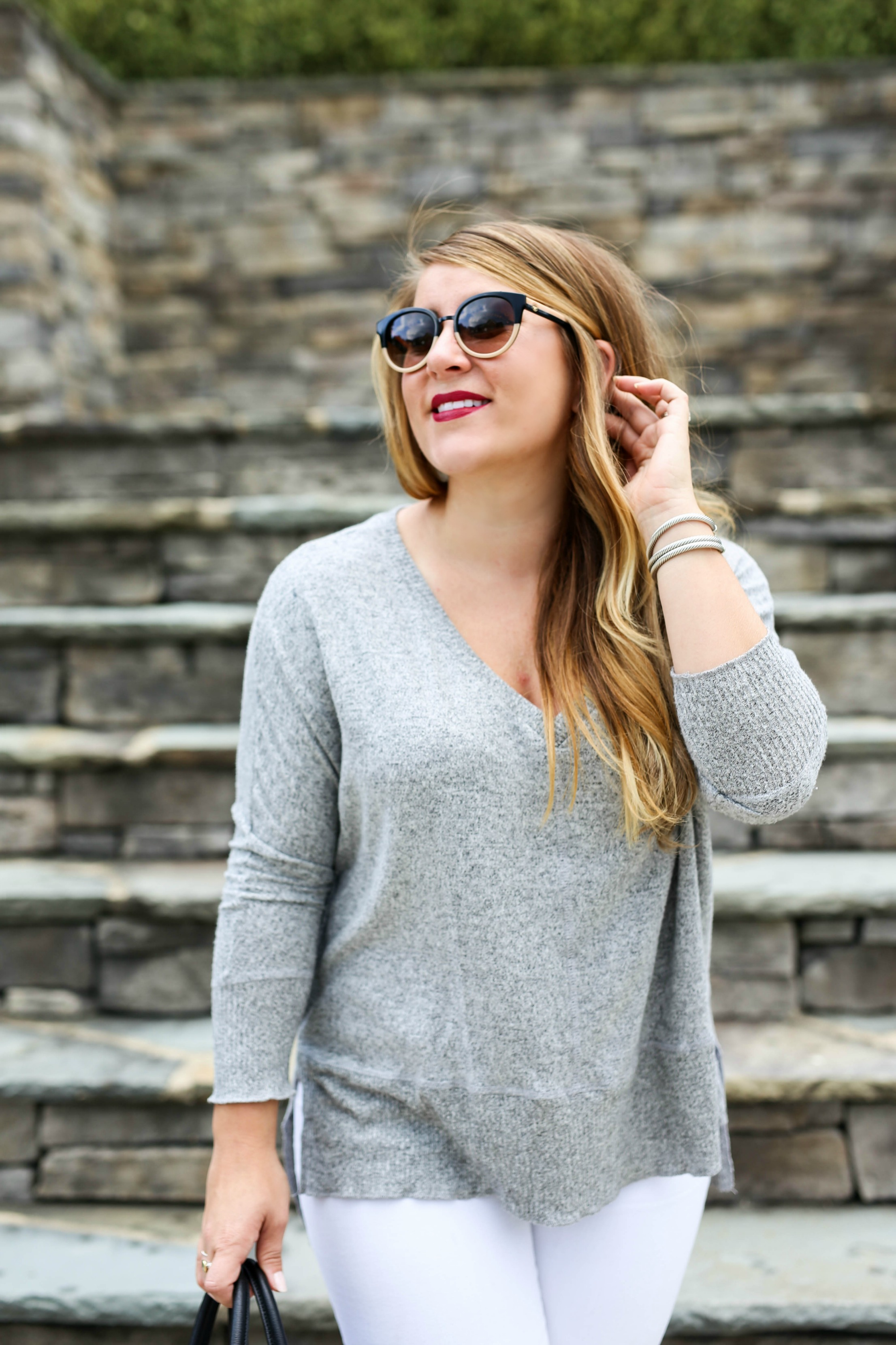White Jeans for Fall | Coffee Beans and Bobby Pins