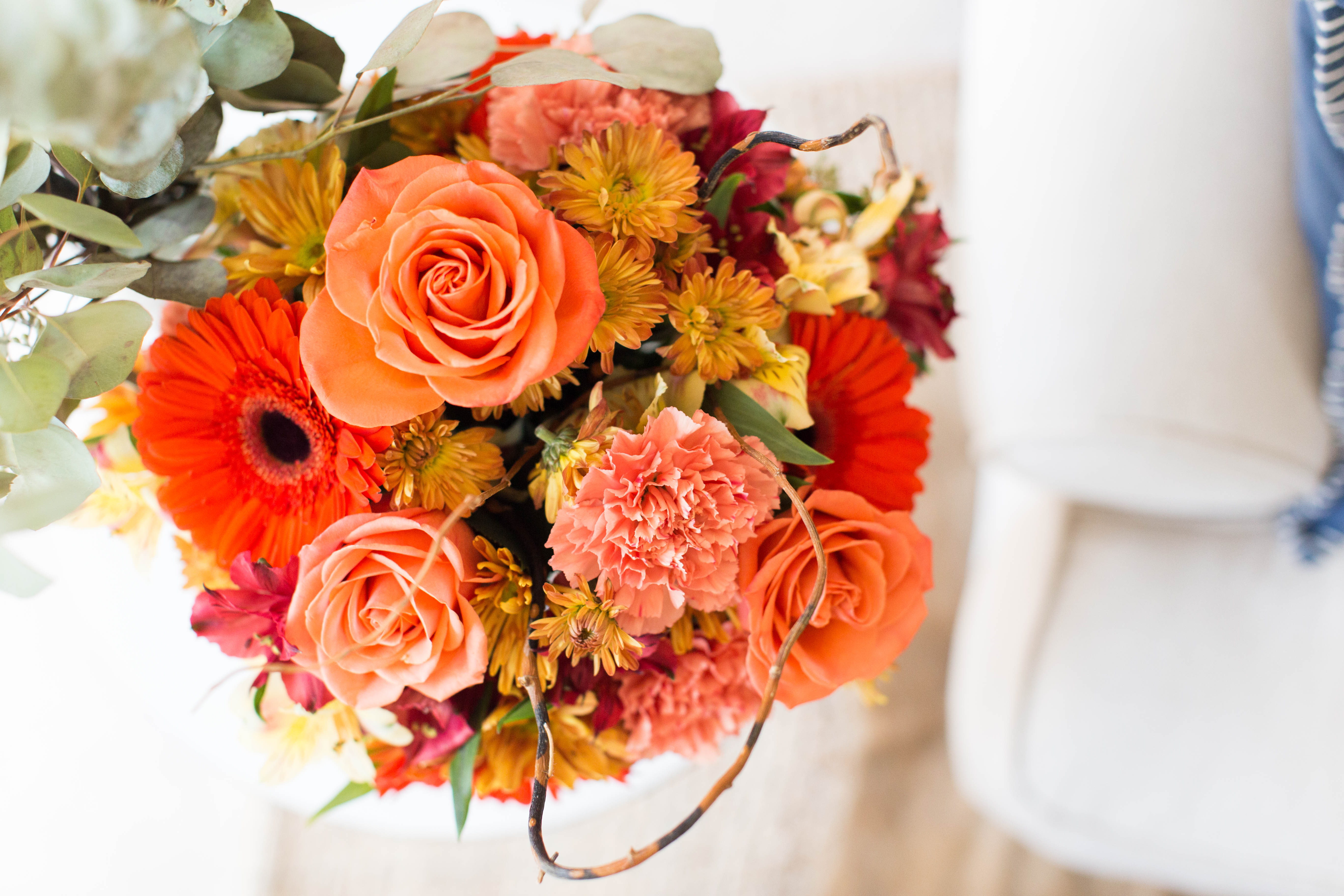 Ftd Flowers Fall Bouquet Coffee Beans And Bobby Pins