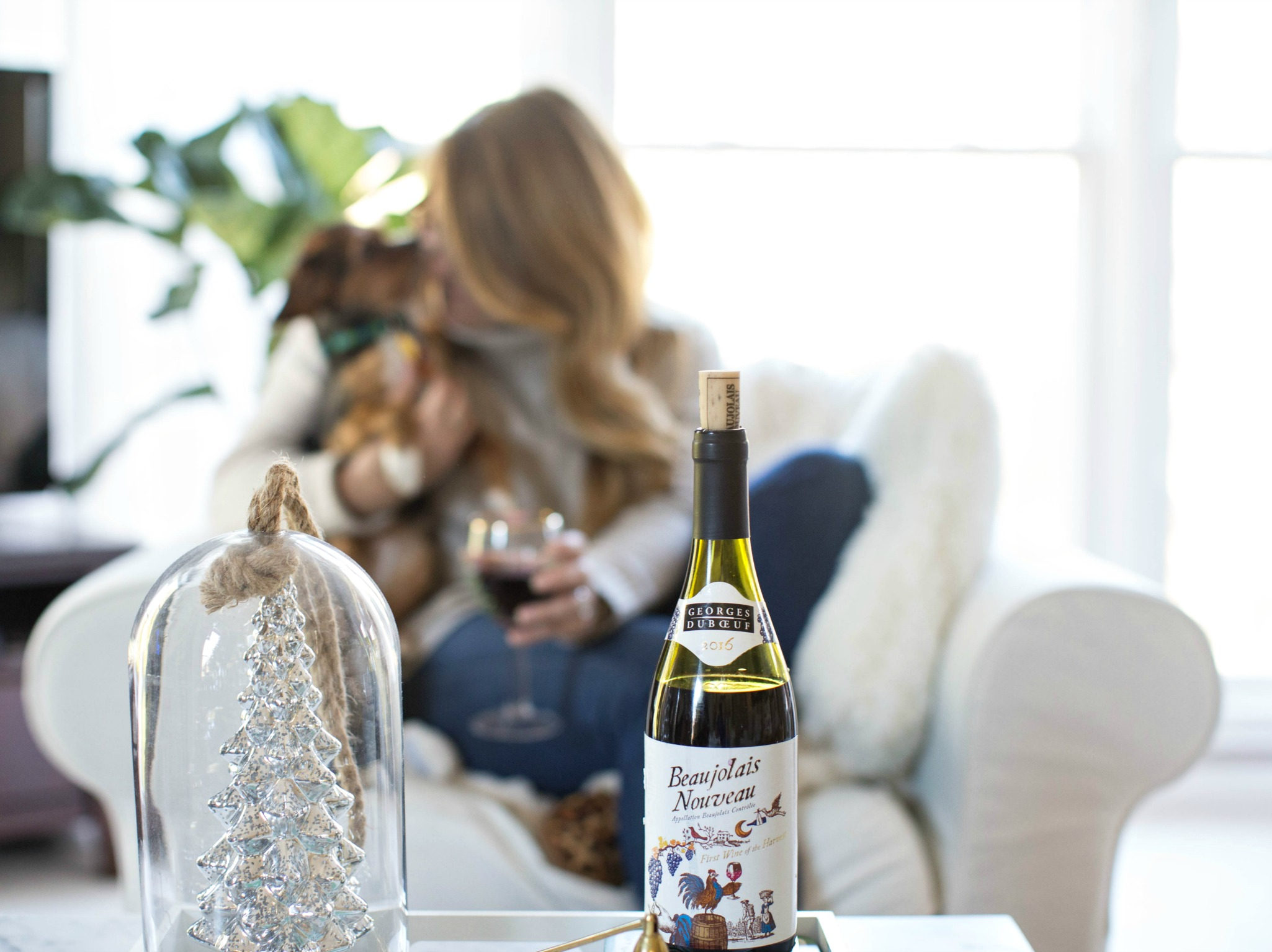 beaujolais-nouveau-wine - 3 Awesome Holiday Bar Cart Ideas by North Carolina style blogger Coffee Beans and Bobby Pins