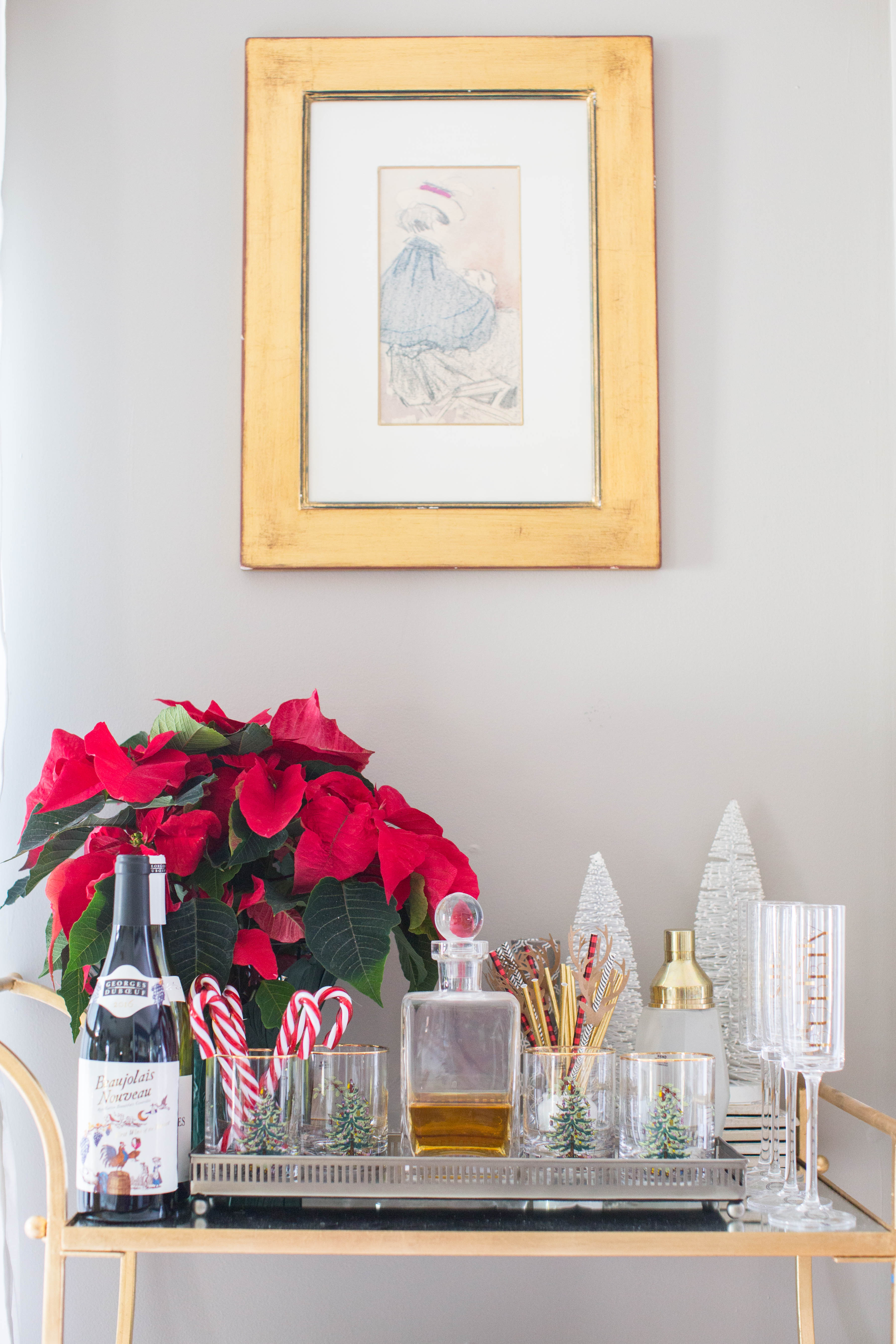 img_3816 - 3 Awesome Holiday Bar Cart Ideas by North Carolina style blogger Coffee Beans and Bobby Pins