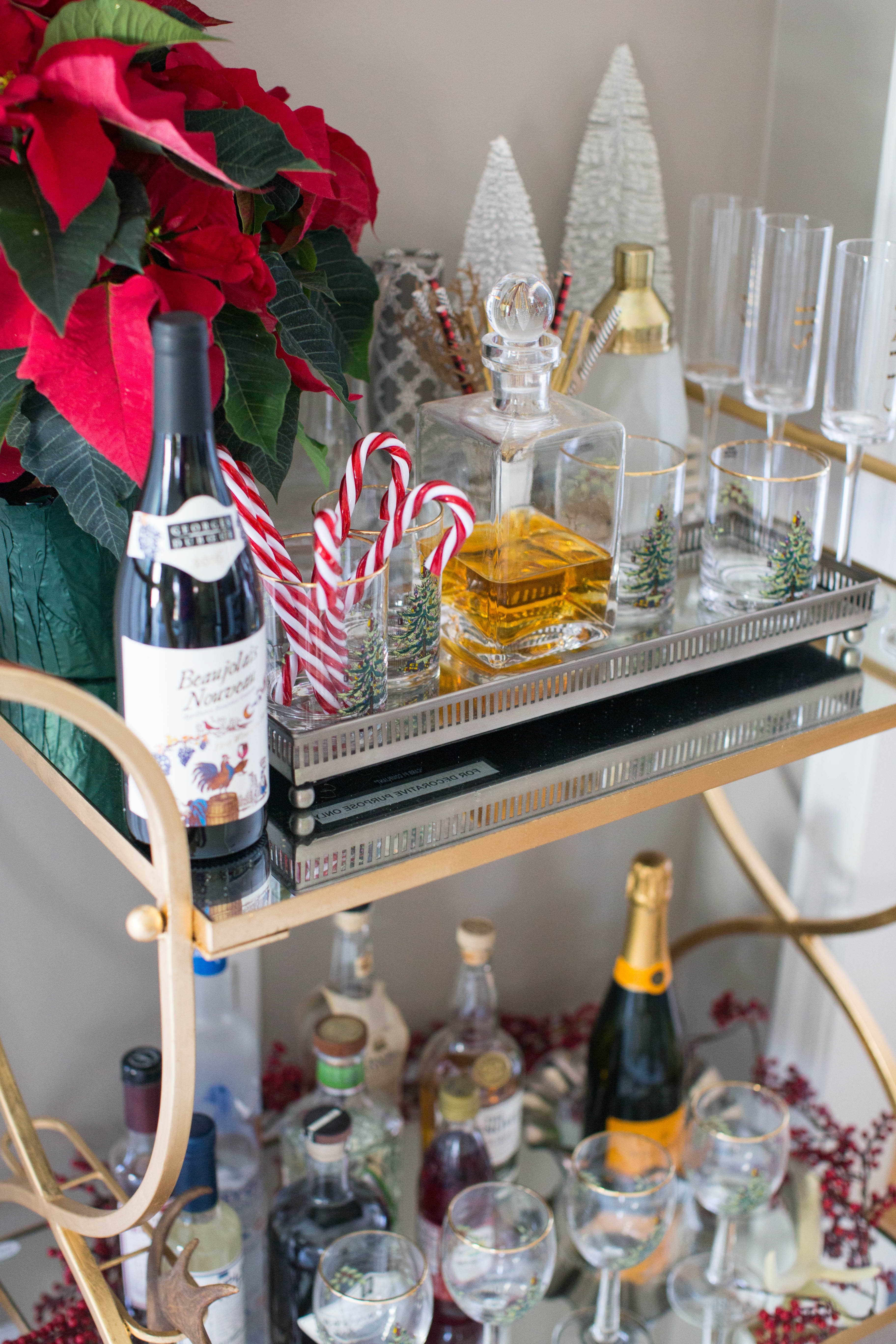img_3847 - 3 Awesome Holiday Bar Cart Ideas by North Carolina style blogger Coffee Beans and Bobby Pins