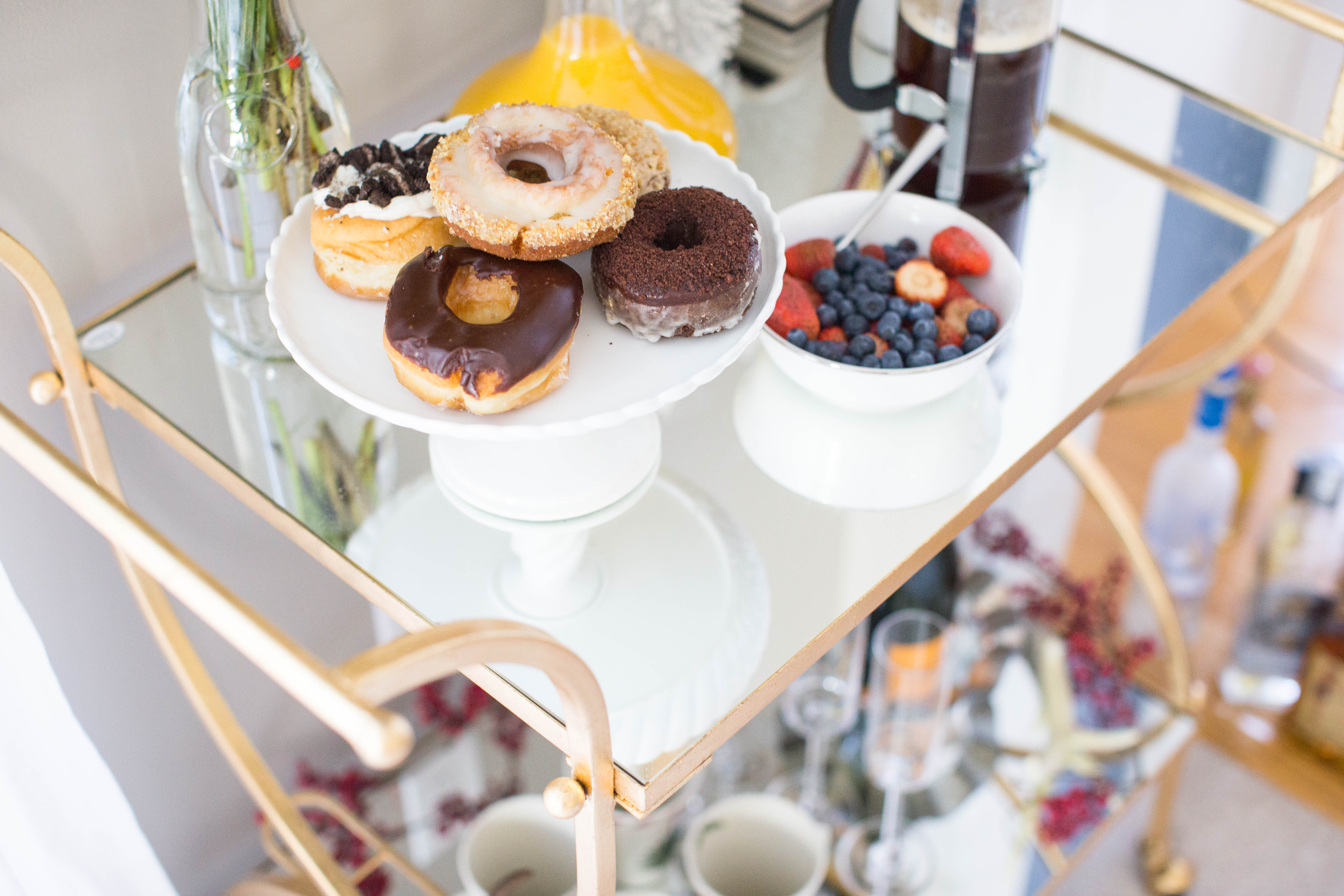 img_3892 - 3 Awesome Holiday Bar Cart Ideas by North Carolina style blogger Coffee Beans and Bobby Pins