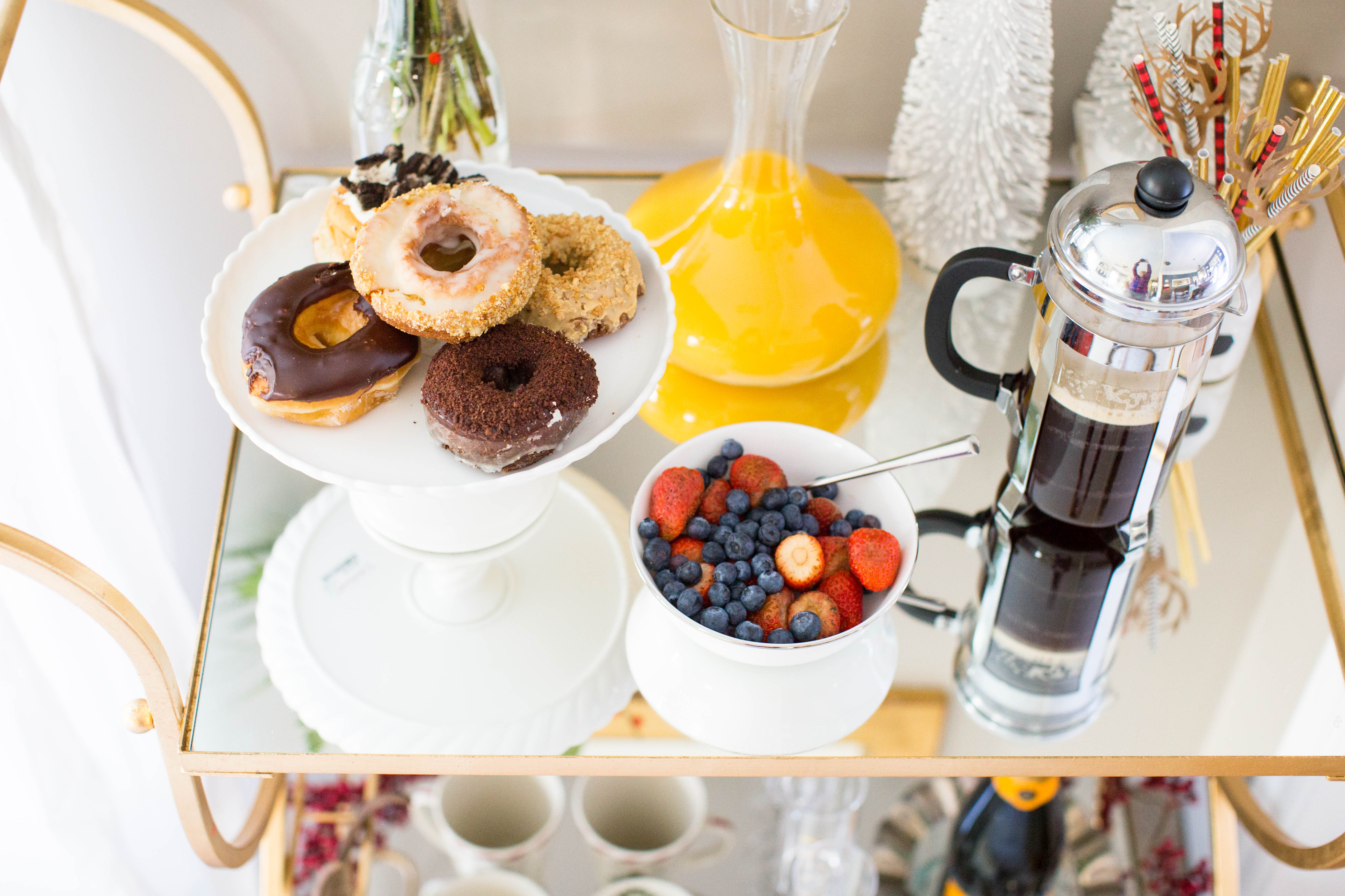 img_3917 - 3 Awesome Holiday Bar Cart Ideas by North Carolina style blogger Coffee Beans and Bobby Pins