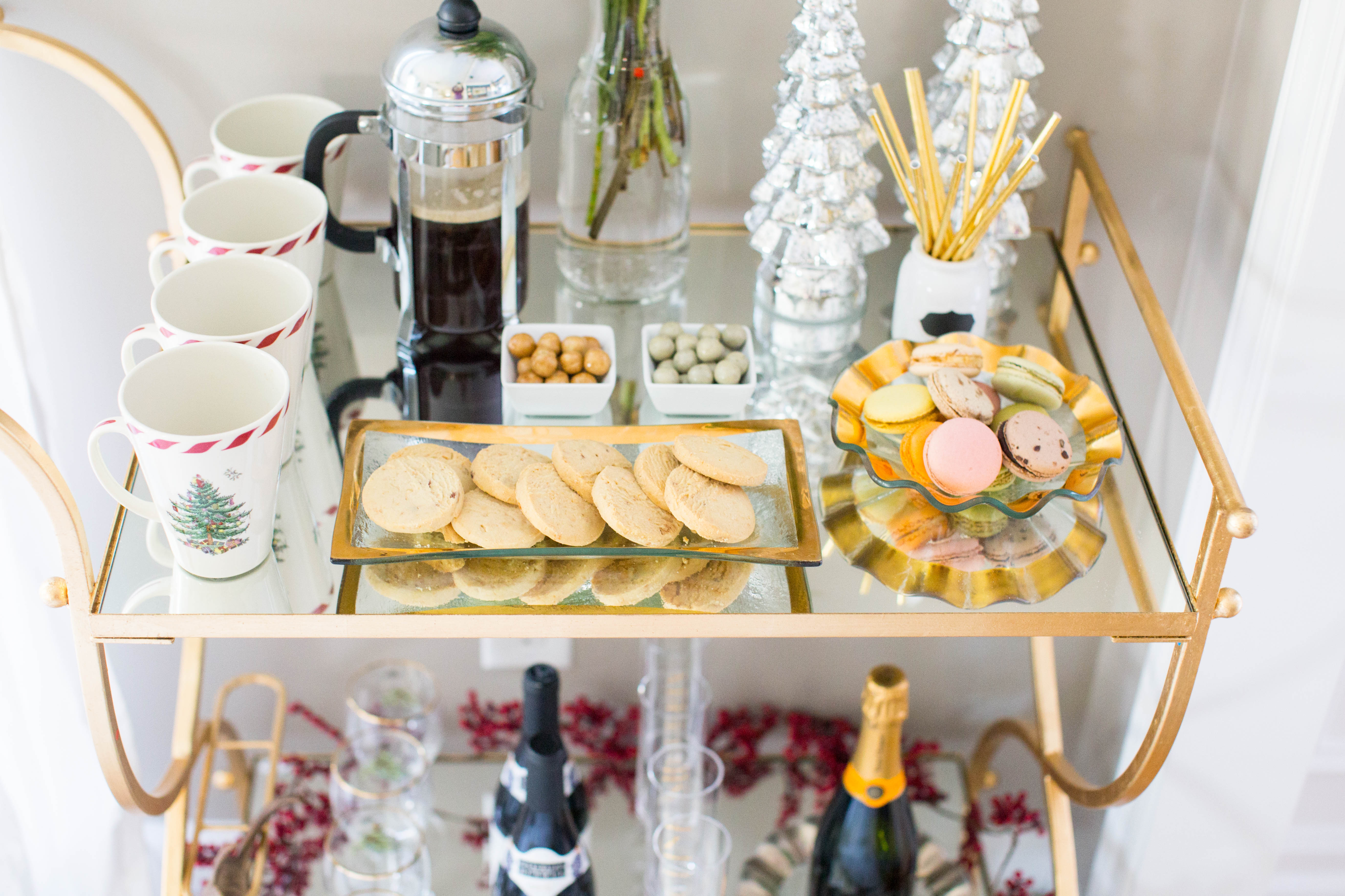 img_3934 - 3 Awesome Holiday Bar Cart Ideas by North Carolina style blogger Coffee Beans and Bobby Pins