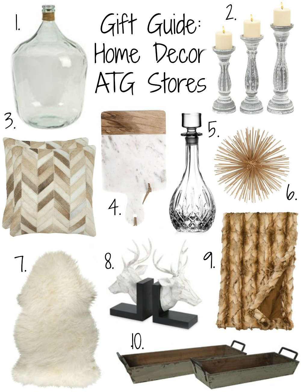Gift Guide Home Decor with ATG Stores Coffee Beans and
