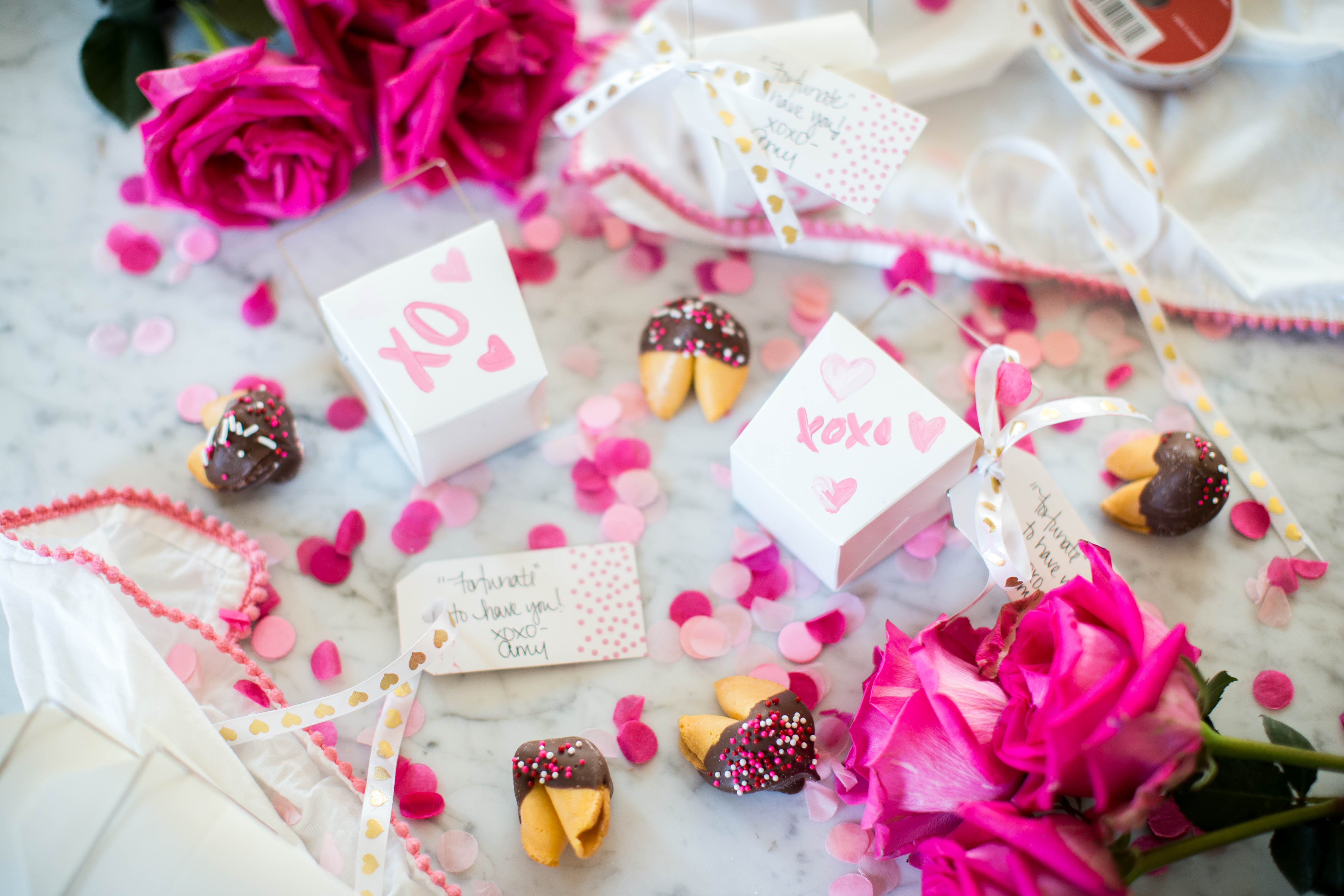 Valentine\'s DIY and Chocolate Dipped Fortune Cookie How-To | Coffee ...