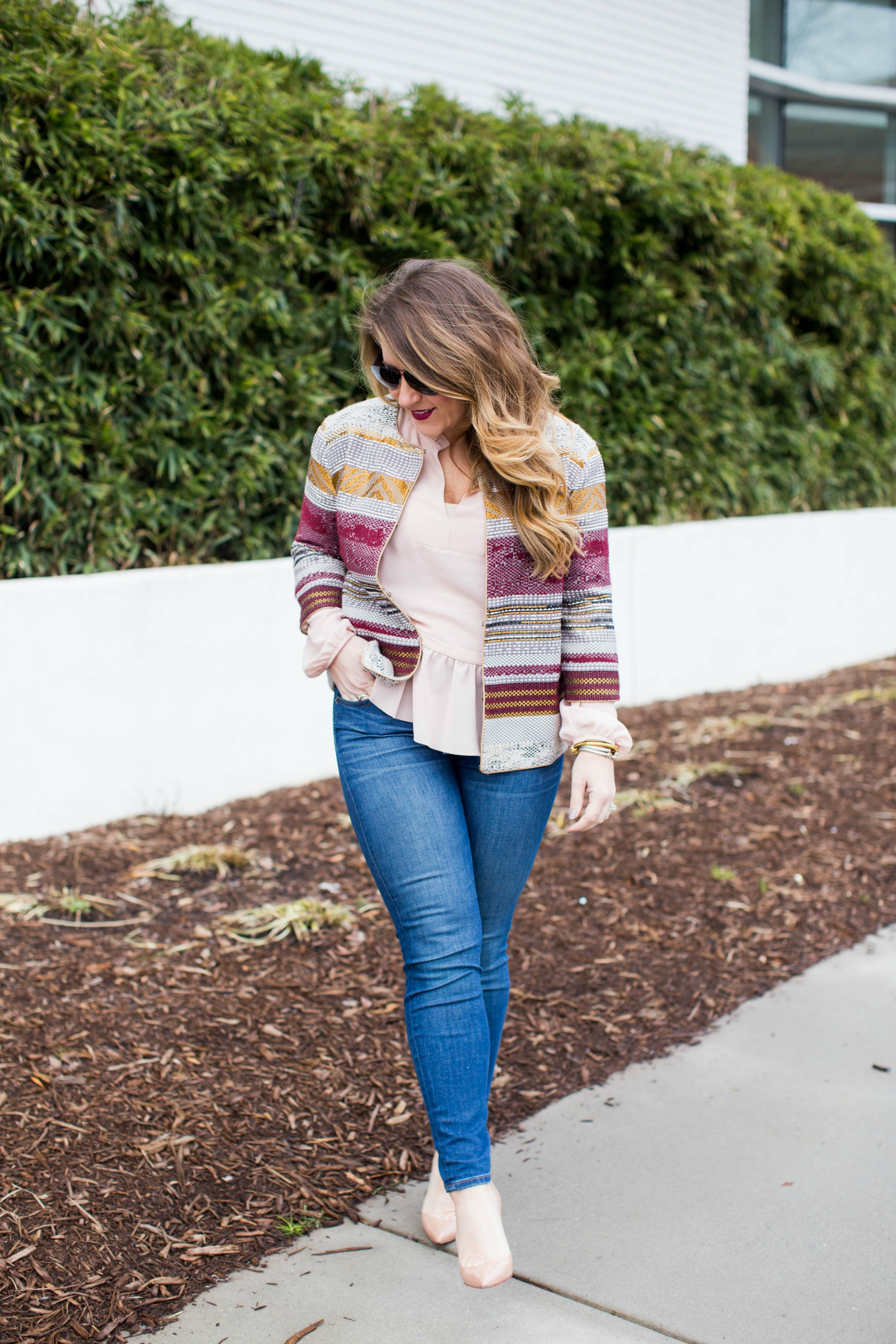 Blazer Jeans Combo by NC fashion blogger Coffee Beans and Bobby Pins
