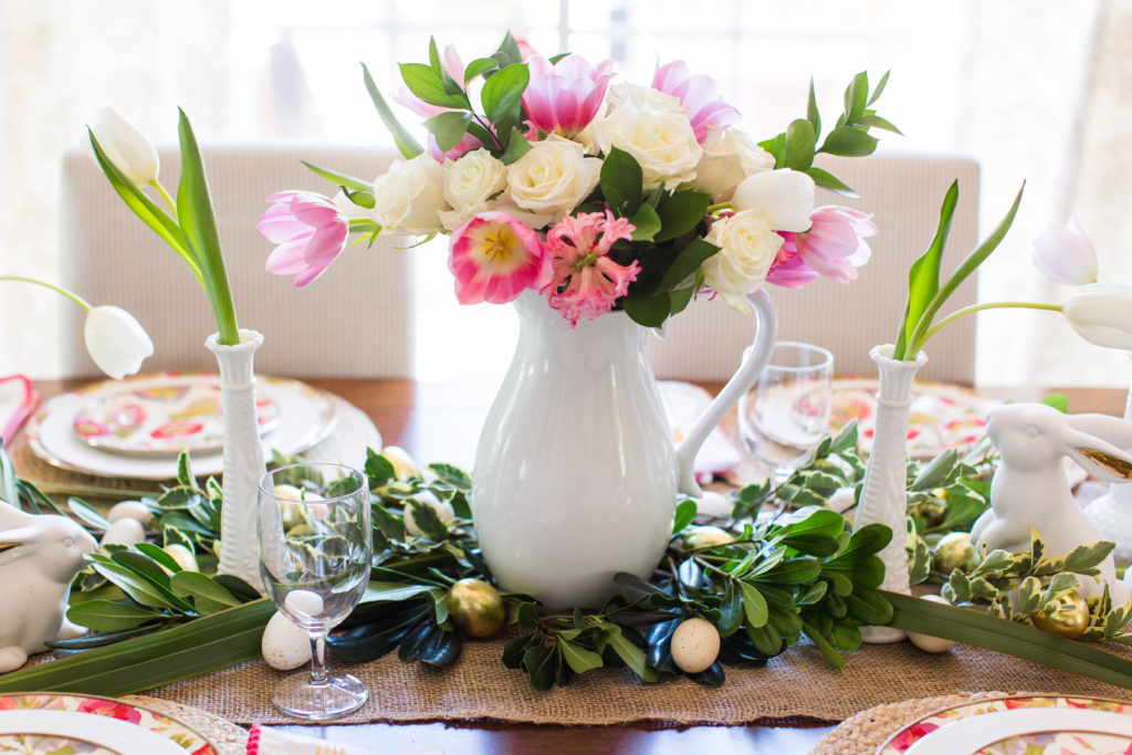 Easter Tablescape and Place Card Idea