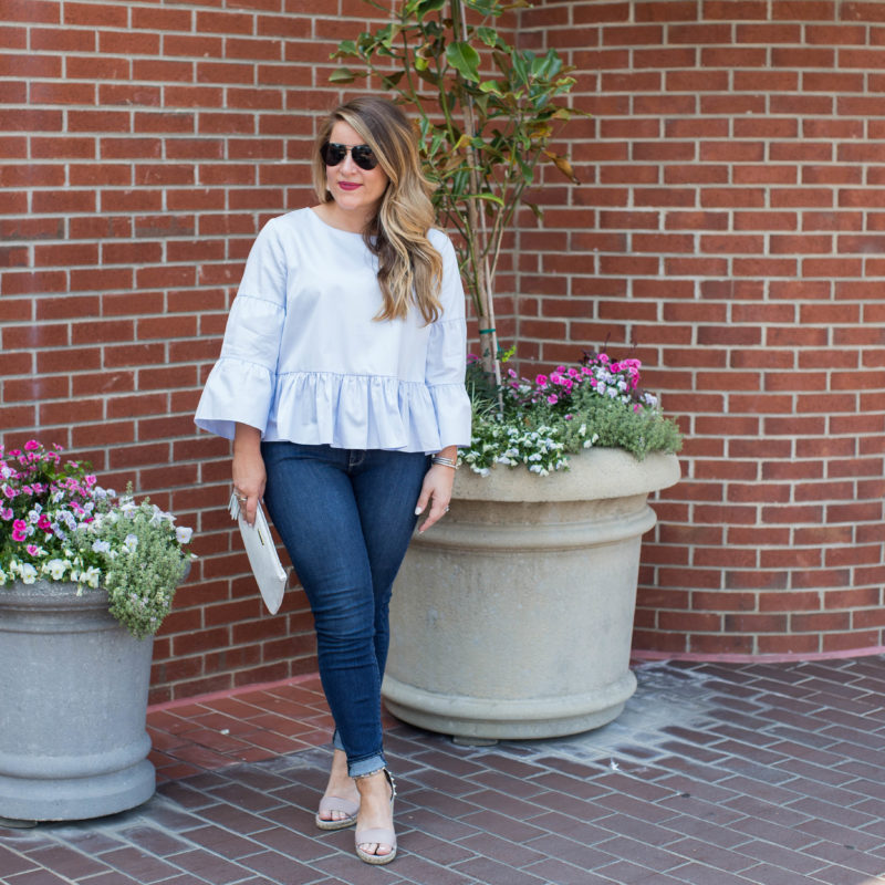 Peplum and Bell Sleeves
