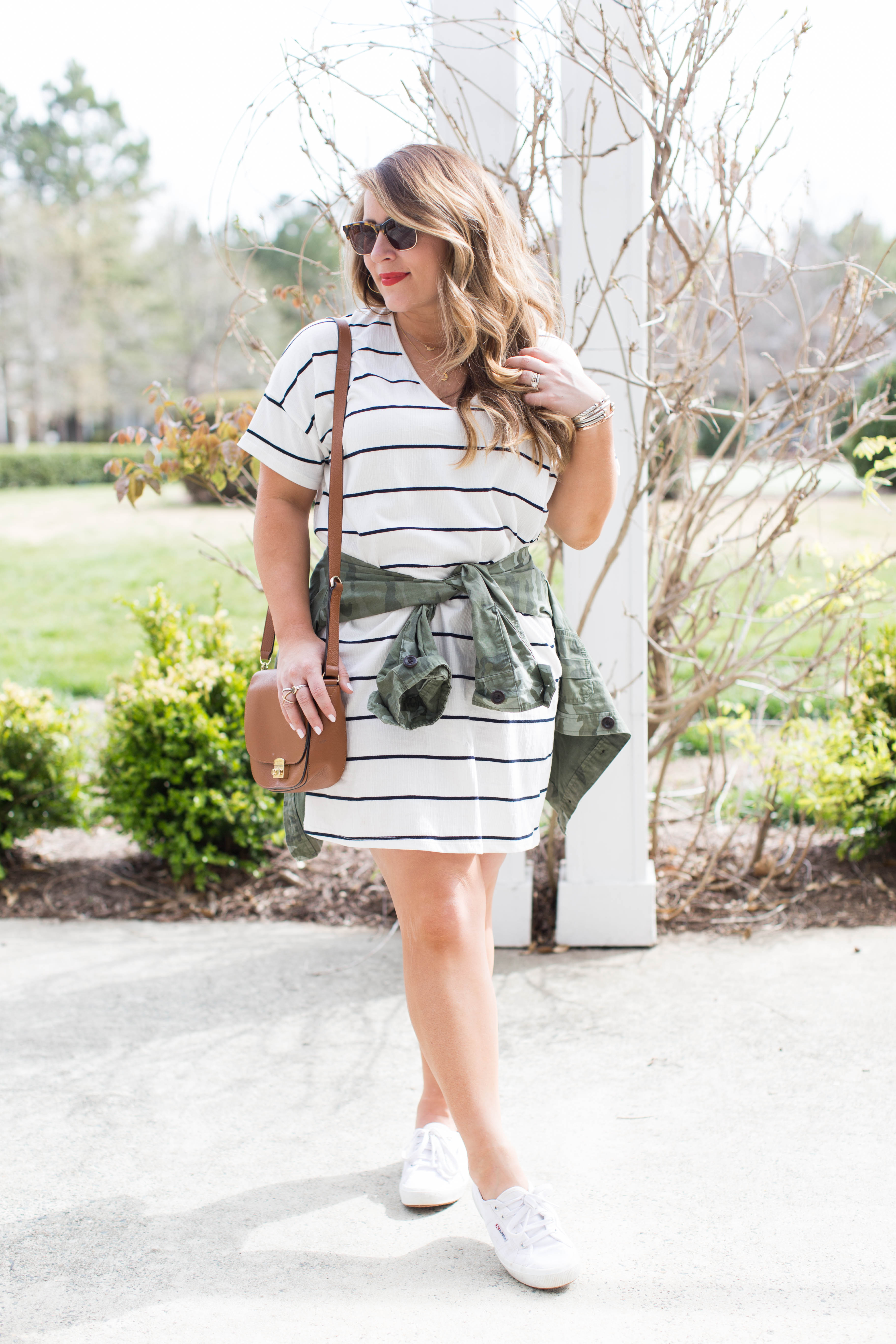 Casual T-Shirt Dress | coffeebeansandbobbypins.com