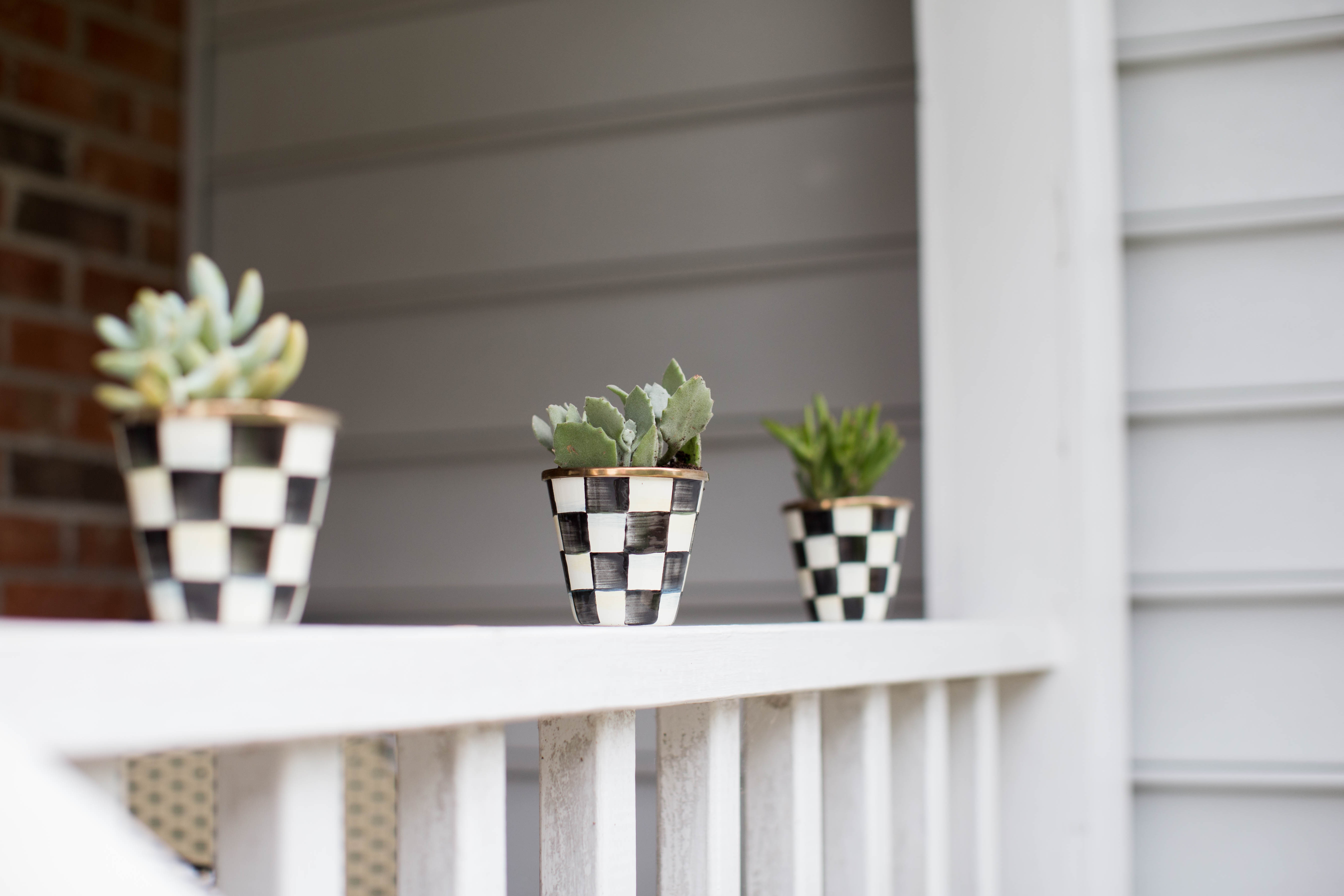 How to Make a Small Front Porch Inviting by NC blogger Amy of Coffee Beans and Bobby Pins