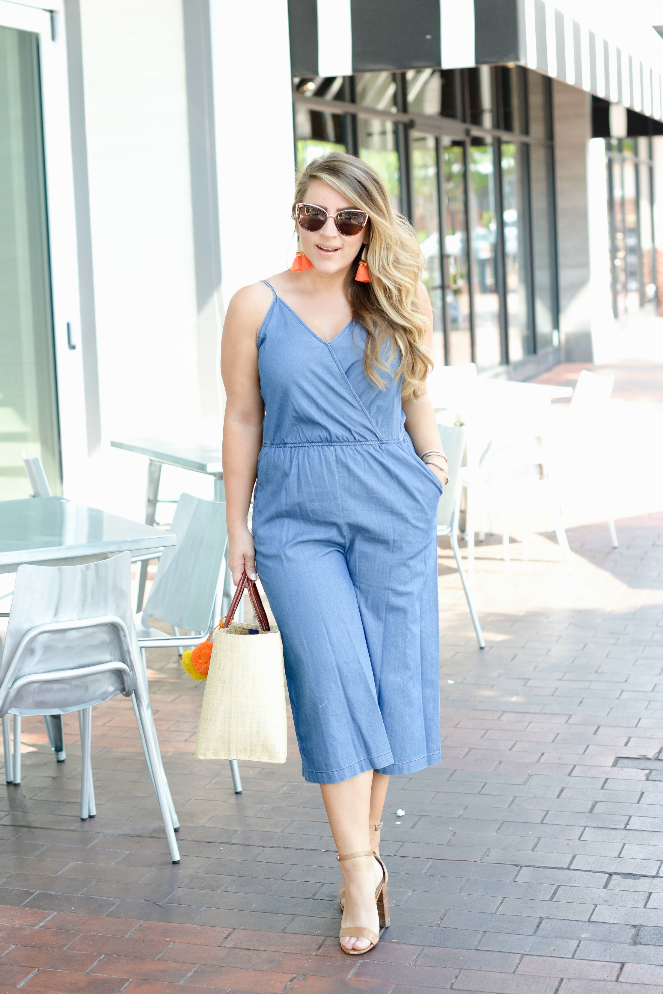 How to Wear a Denim Jumpsuit