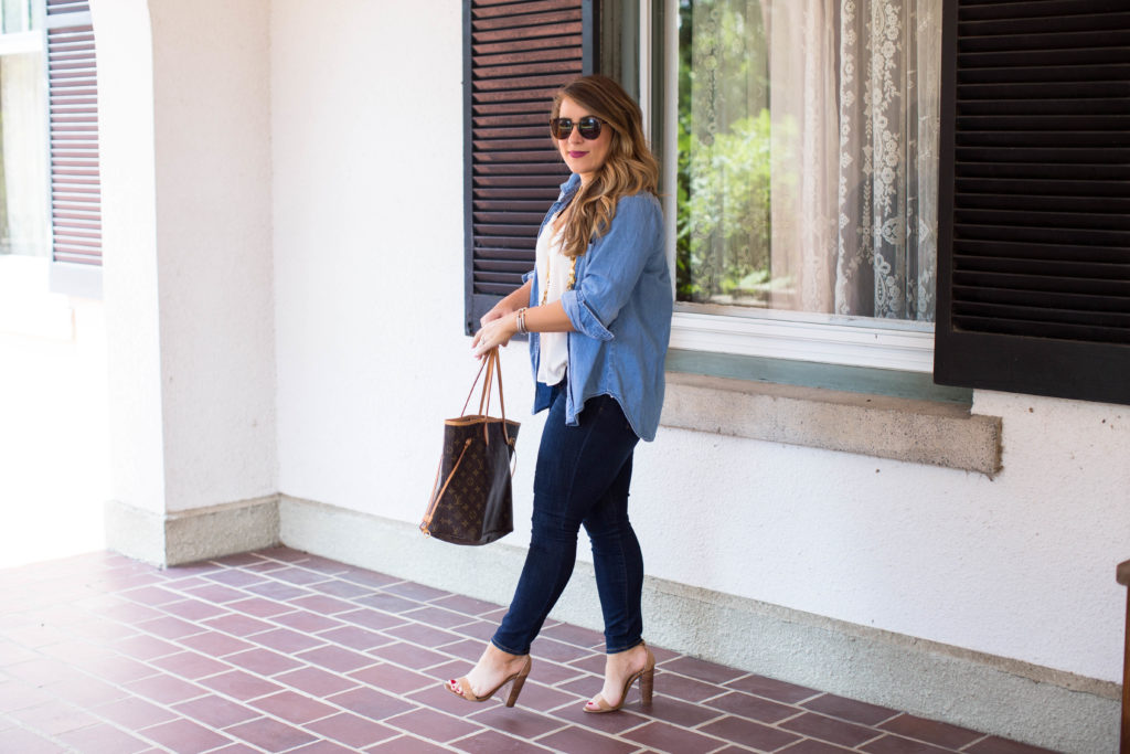Lace Cami and Chambray