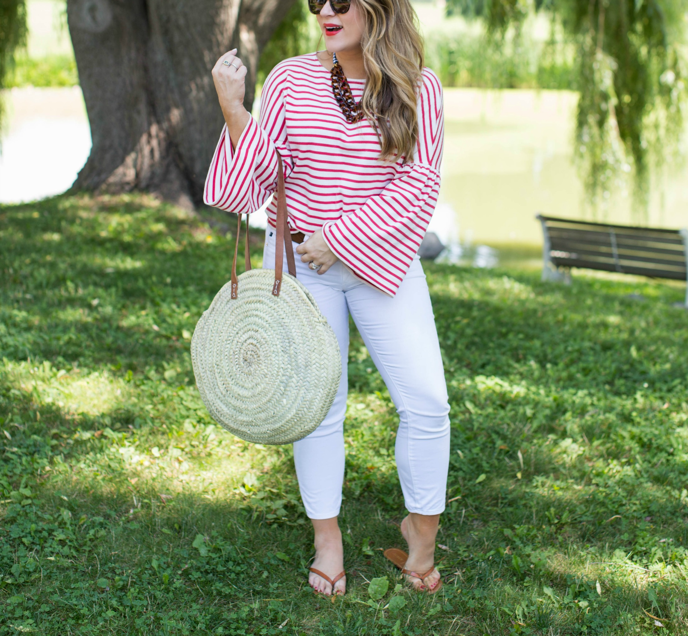 Vacation Outfits at MacKenzie-Childs by NC fashion blogger Coffee Beans and Bobby Pins