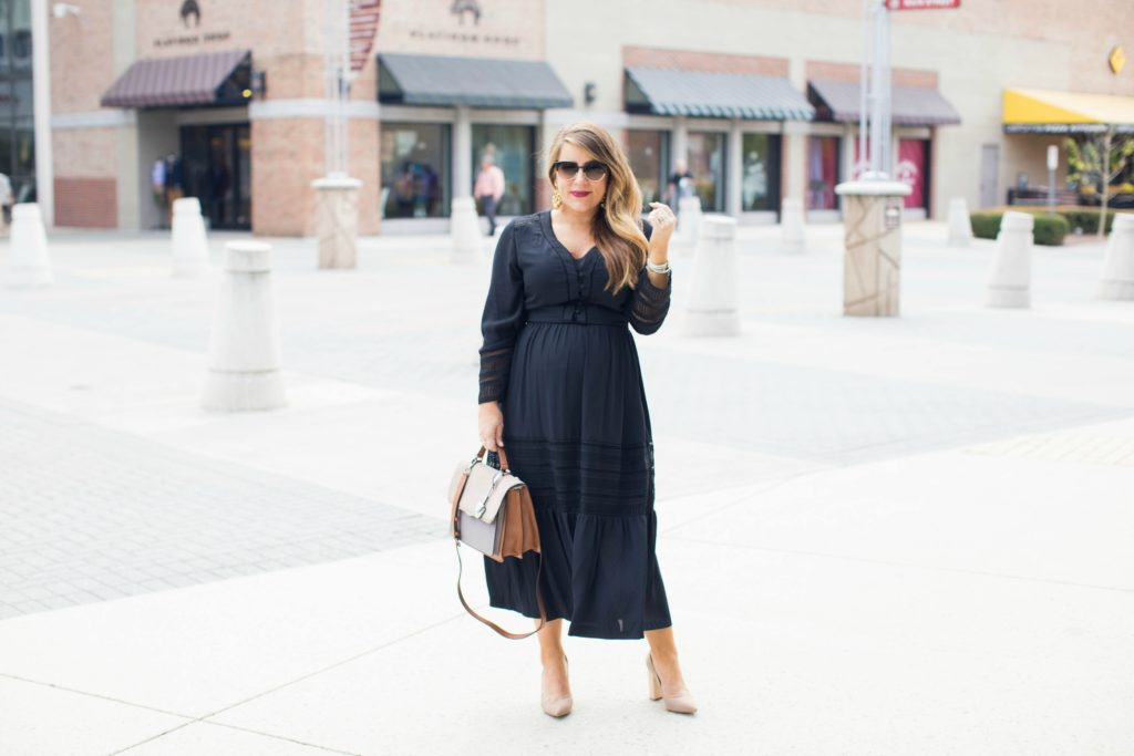 Black Midi Dress Two Ways