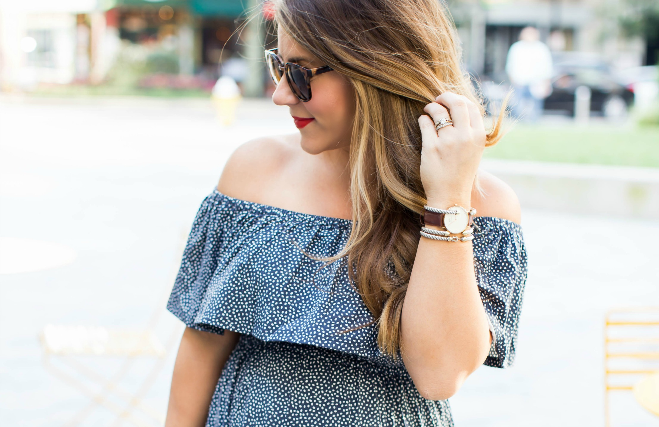 3fb5e9f20abd Off the Shoulder Dress for Fall by NC fashion blogger Coffee Beans and  Bobby Pins