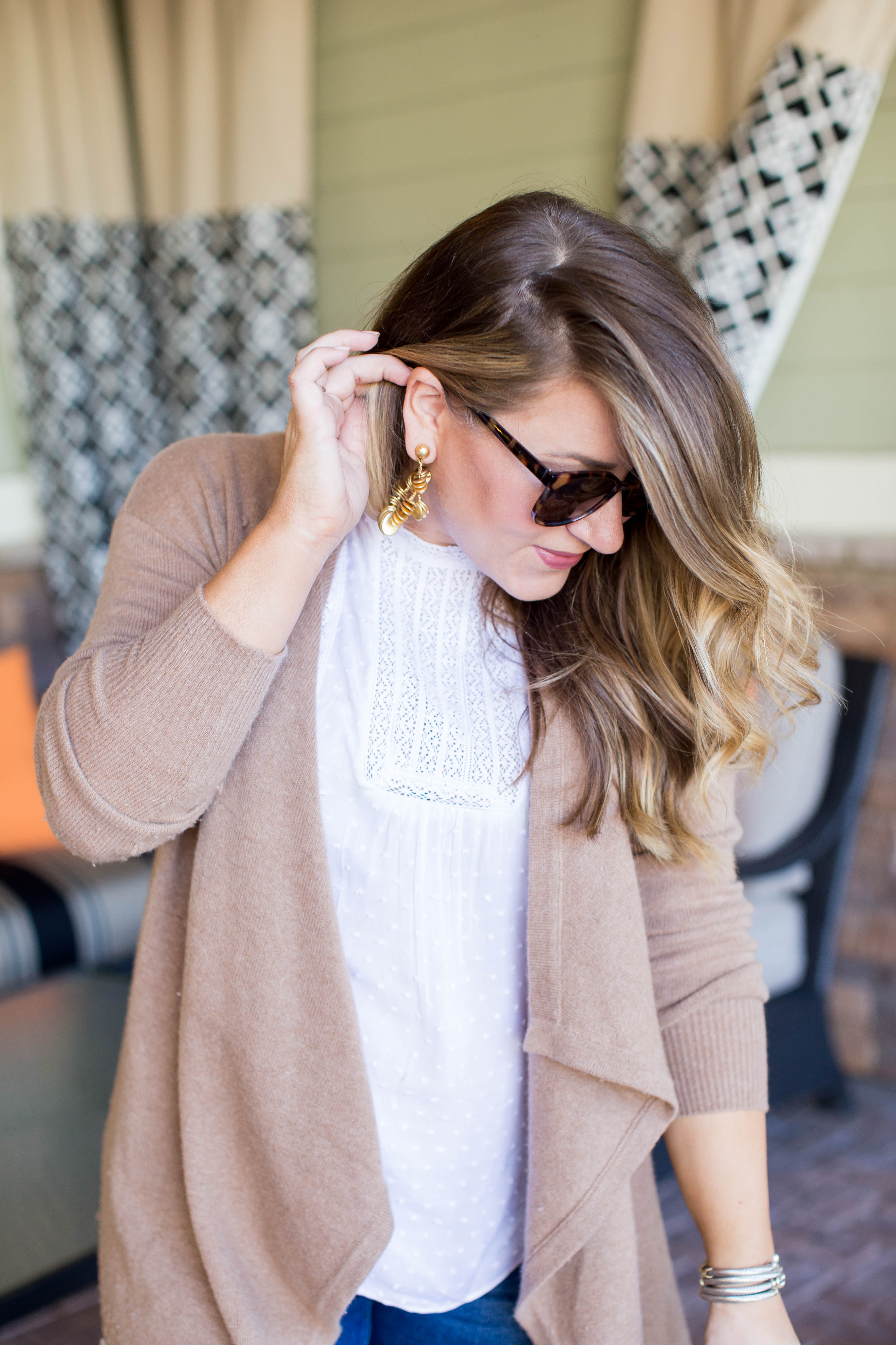 Long Line Cardigan for Fall - Camel Long Line Cardigan by NC fashion blogger Coffee Beans and Bobby Pins