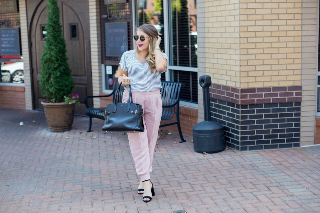 Blush Pink Joggers for Fall