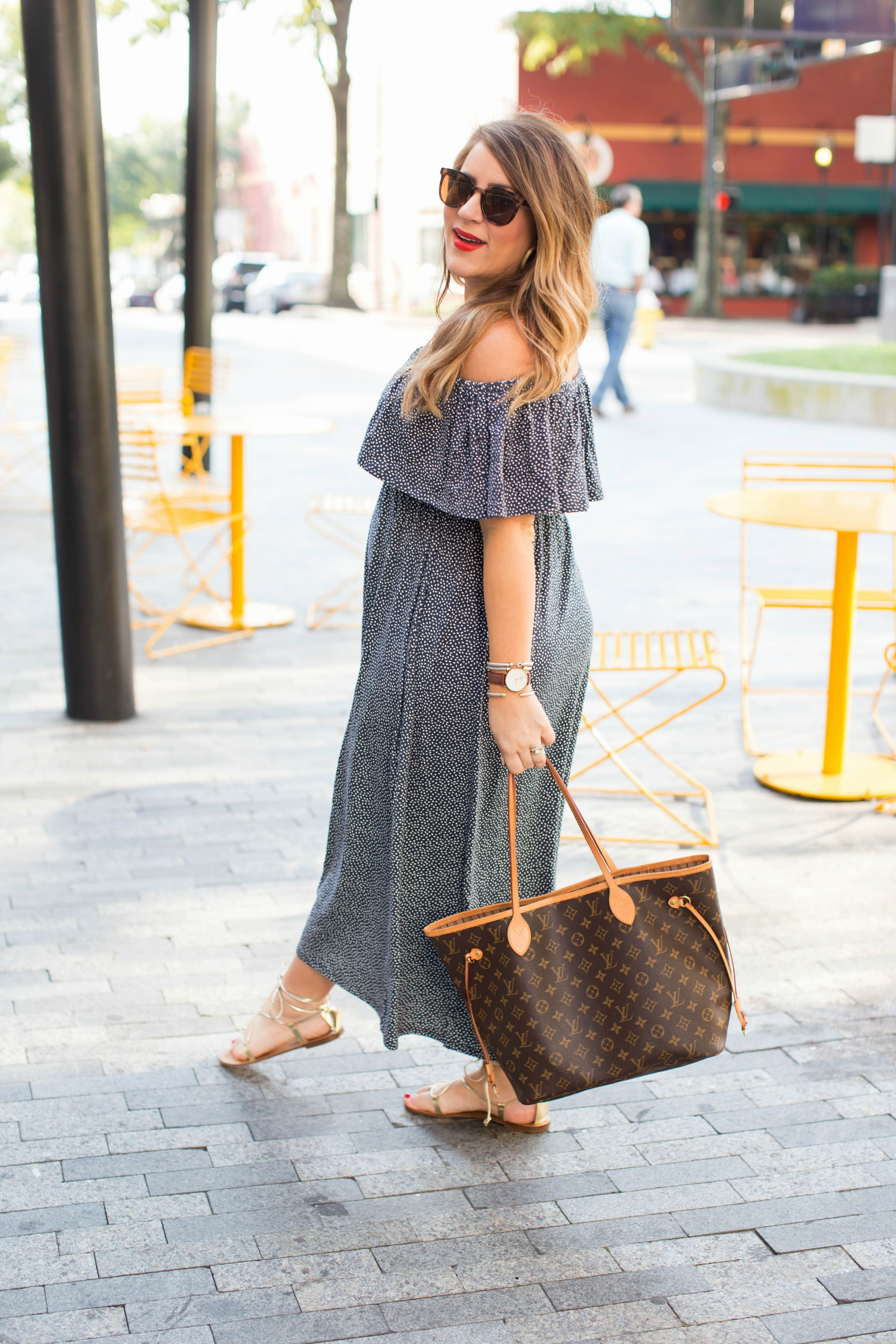 Off the Shoulder Dress for Fall by NC fashion blogger Coffee Beans and Bobby Pins
