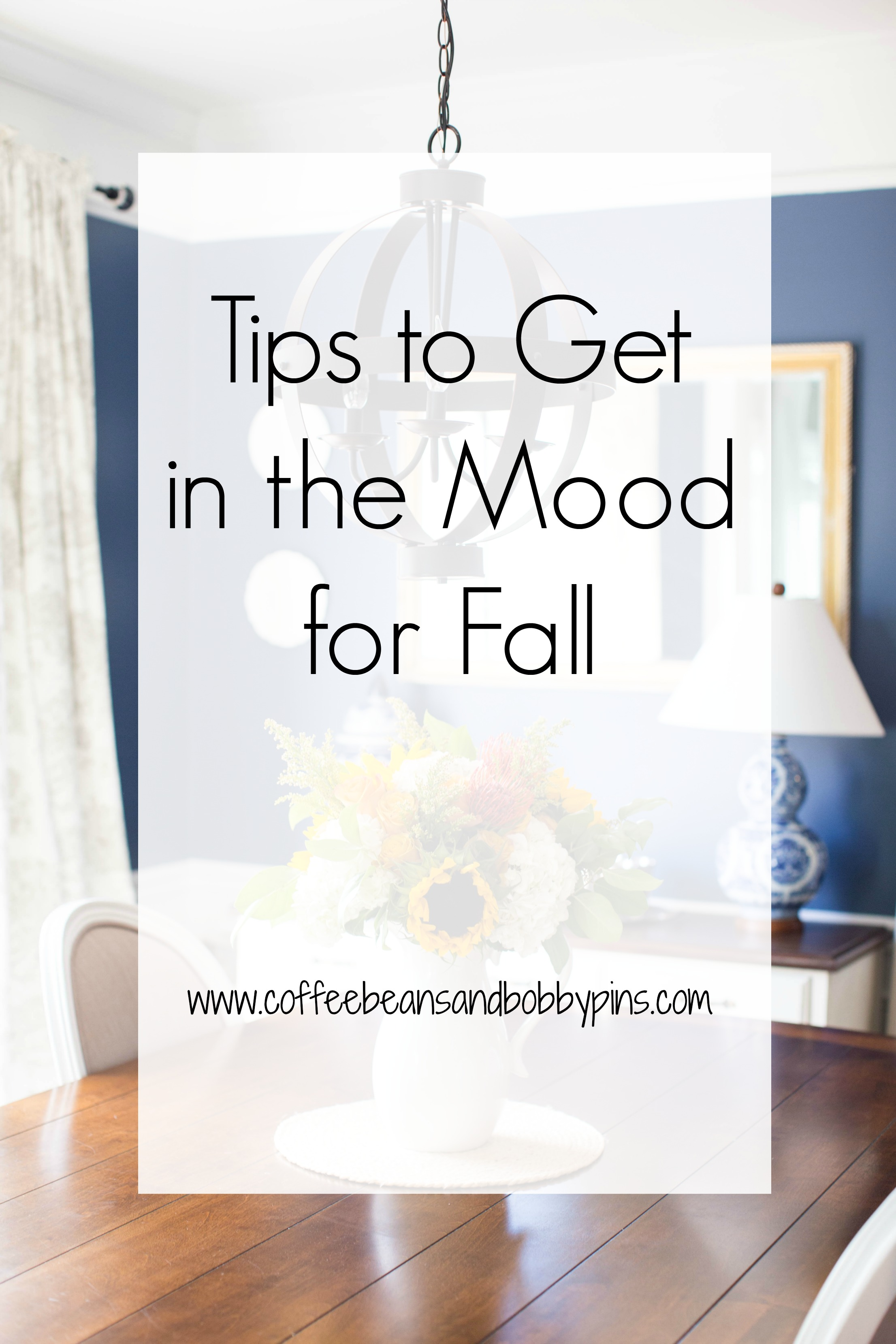 5 Fall Home Decor Tips by North Carolina lifestyle blogger Coffee Beans and Bobby Pins