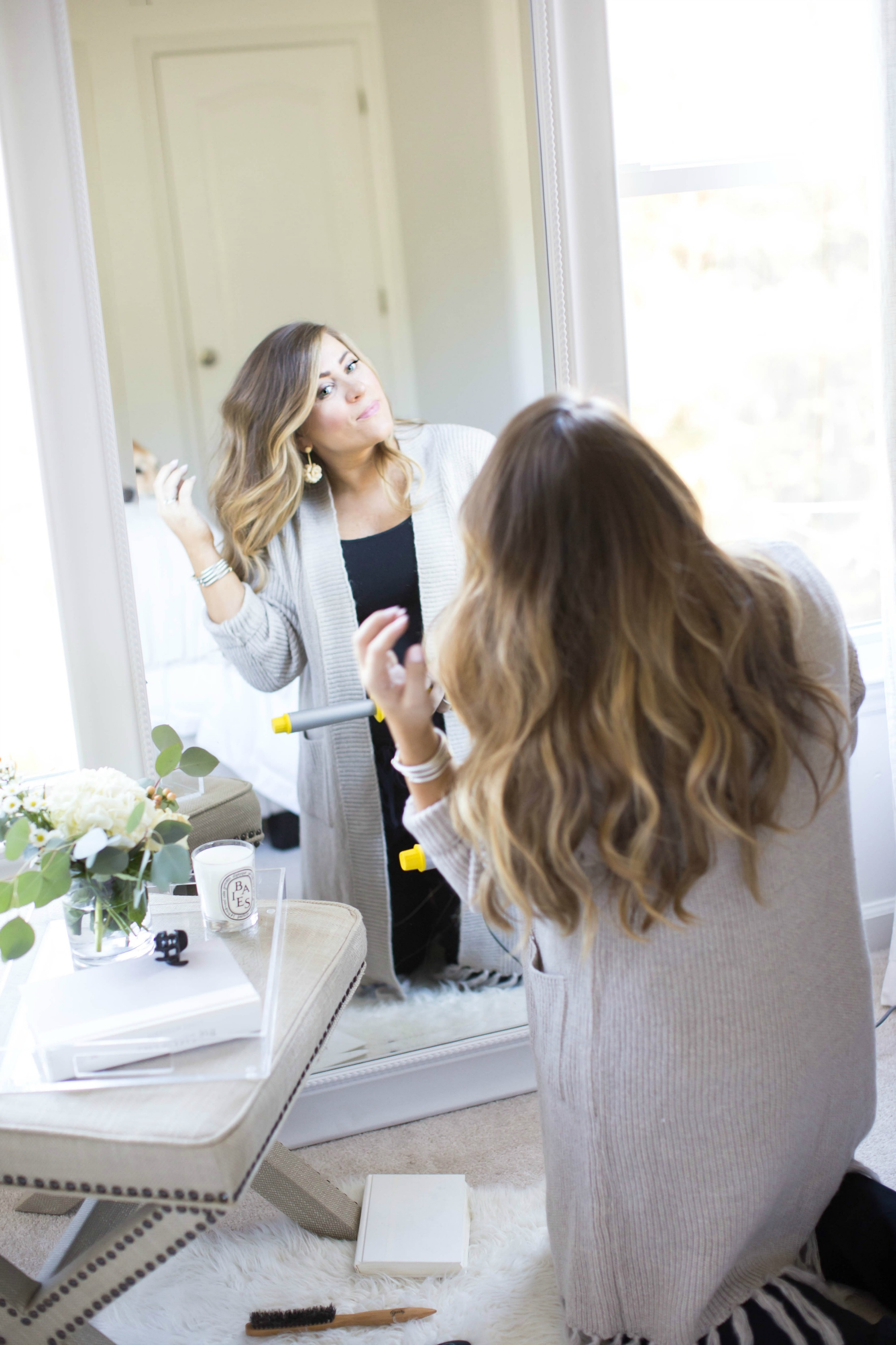 How I Curl My Hair - How to Curl Your Hair by North Carolina style blogger Coffee Beans and Bobby Pins
