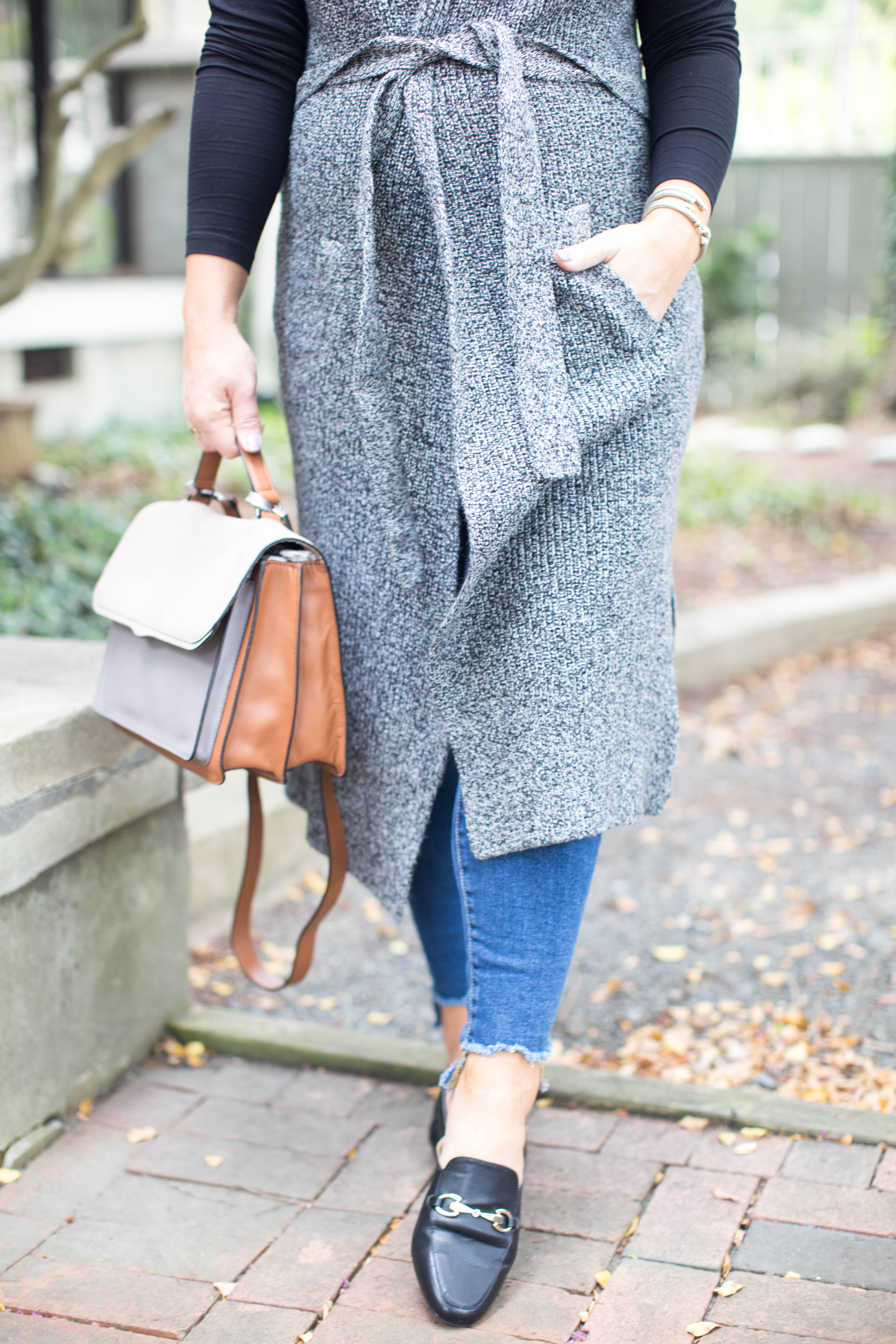 The Perfect Fall Transition Piece: The Longline Vest by North Carolina fashion blogger Coffee Beans and Bobby Pins
