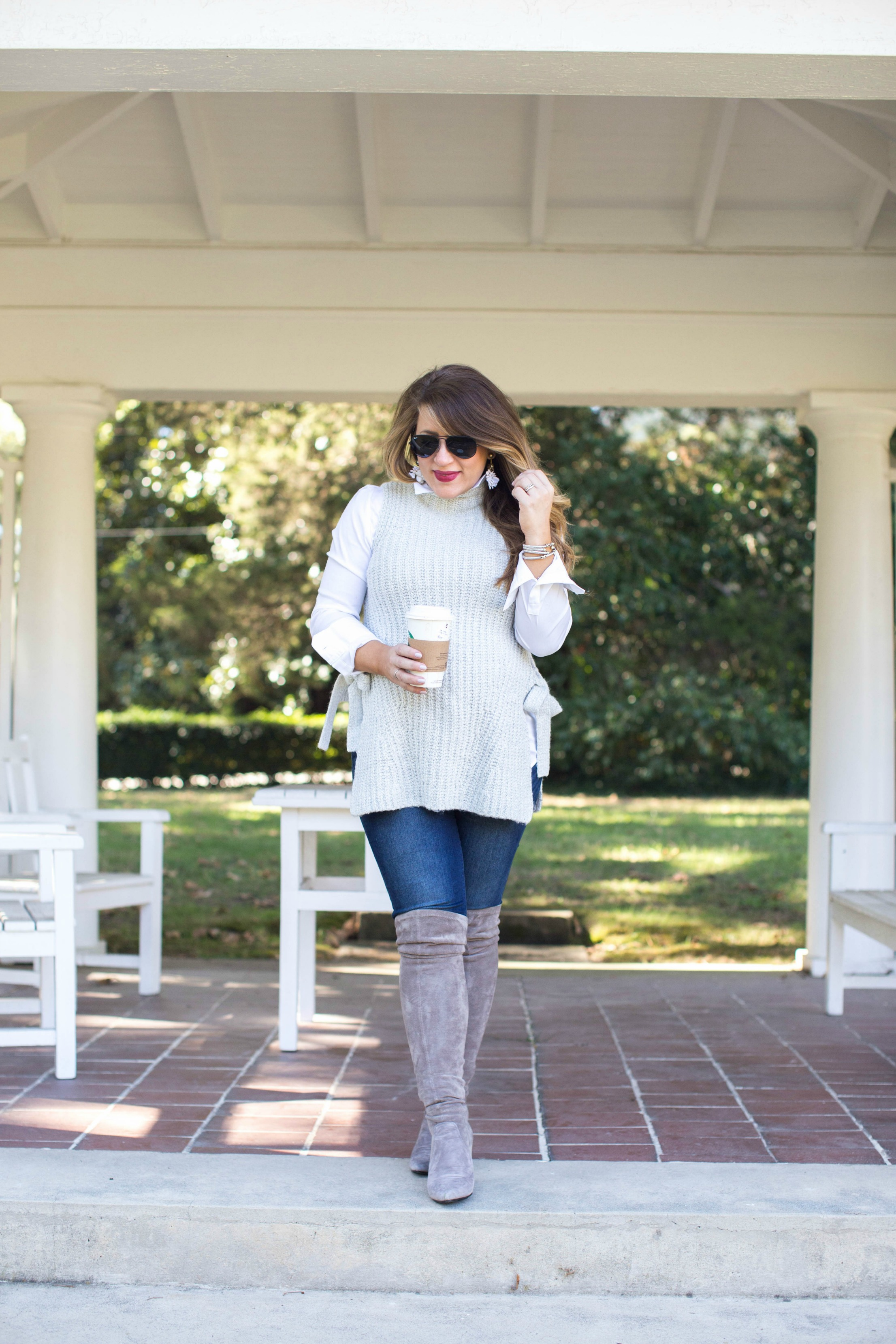 Fall Fashion: Gray Layers by North Carolina fashion blogger Coffee Beans and Bobby Pins