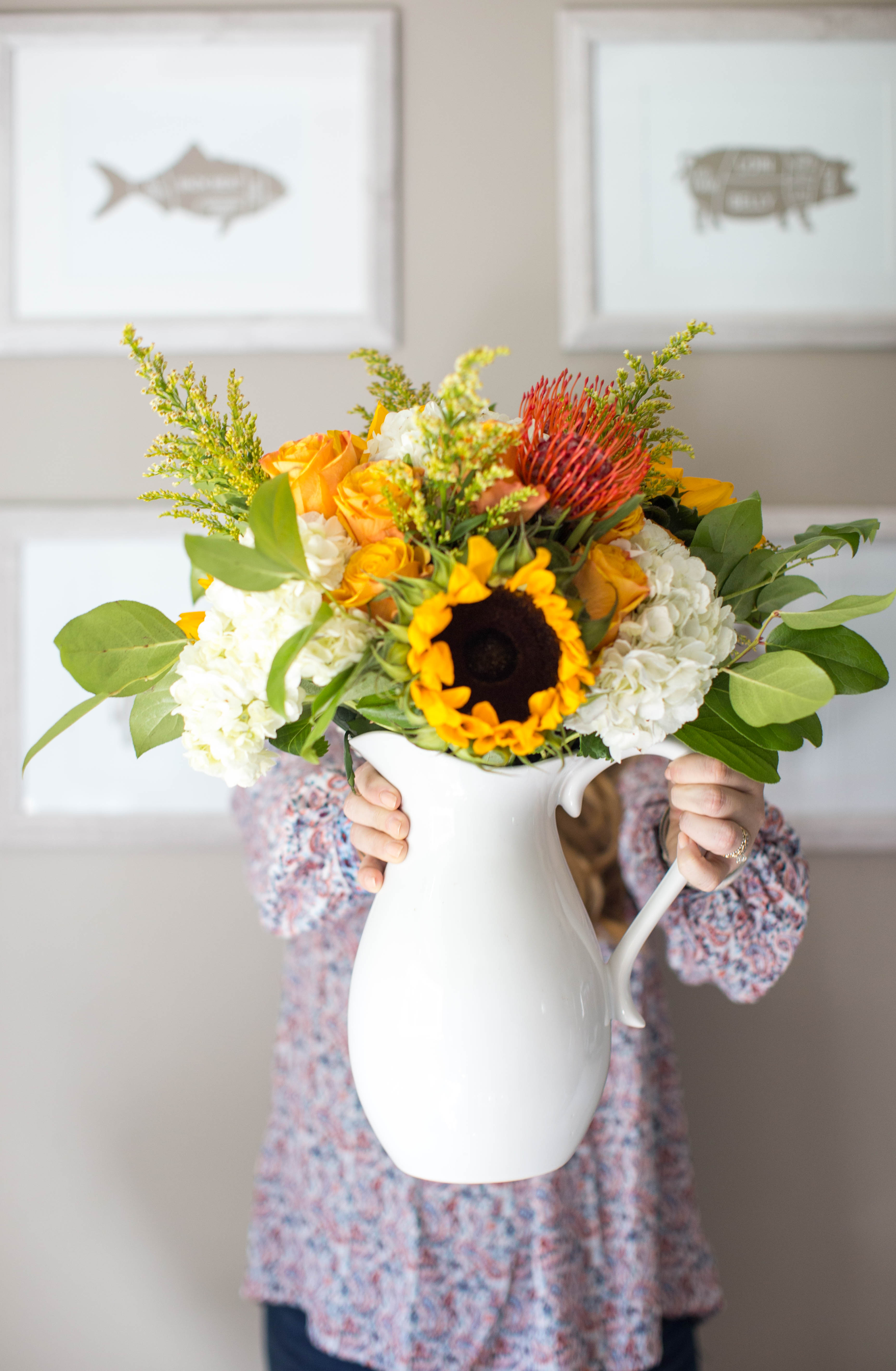 How to Make a Fall Floral Arrangement by North Carolina style blogger Coffee Beans & Bobby Pins