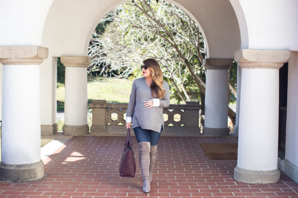 The Best Grey Over the Knee Boots