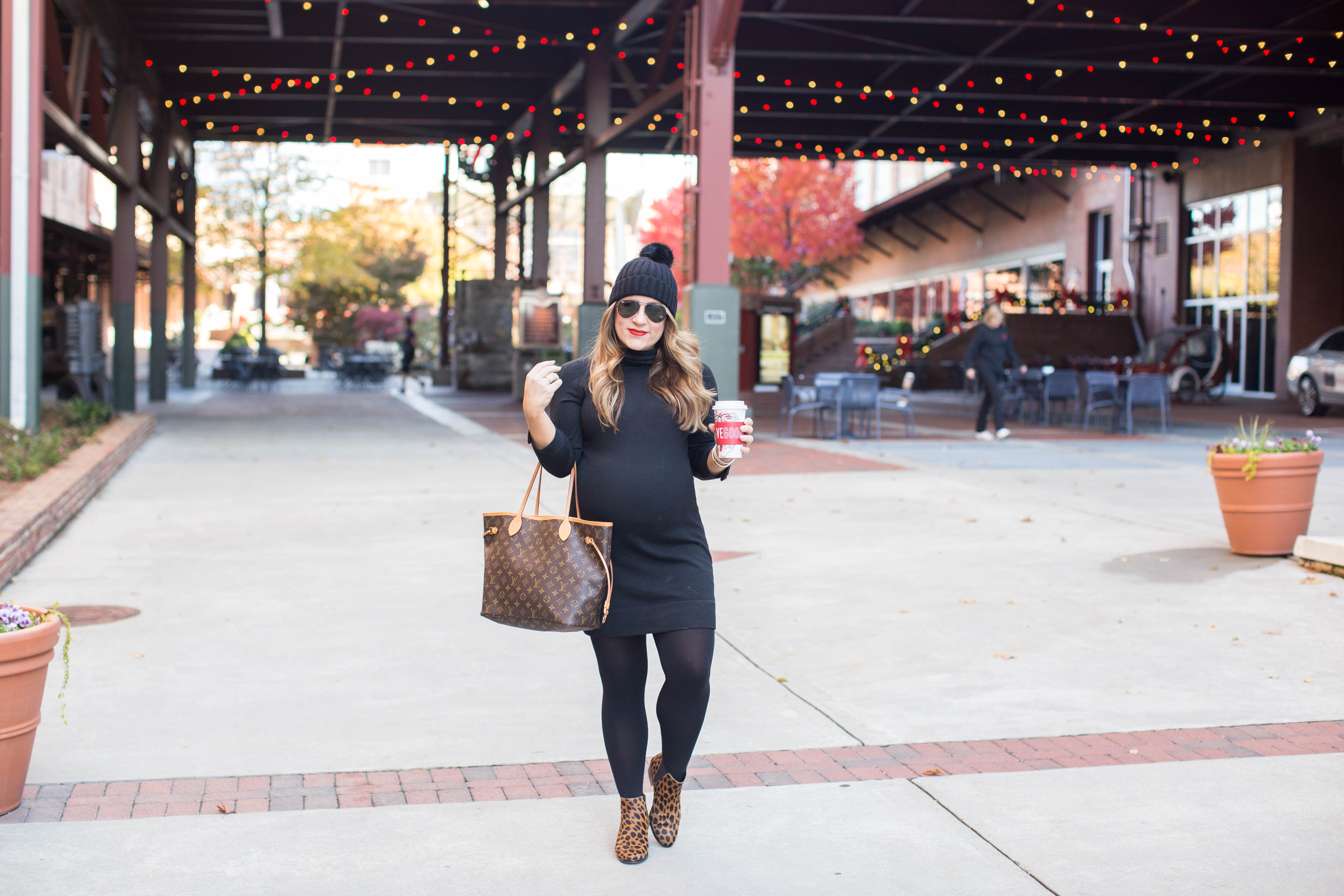 Little Black Turtleneck Dress by North Carolina fashion blogger Coffee Beans and Bobby Pins
