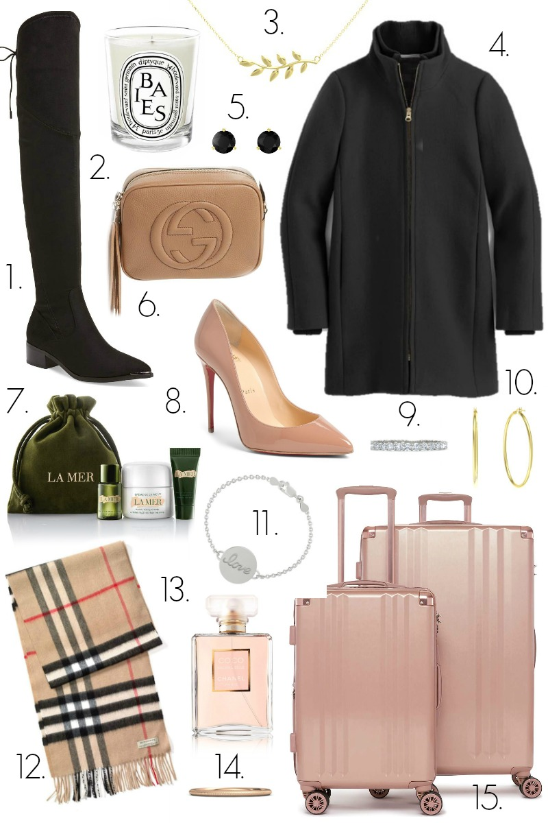 Women's Luxury Gift Guide by North Carolina style blogger Coffee Beans and Bobby Pins