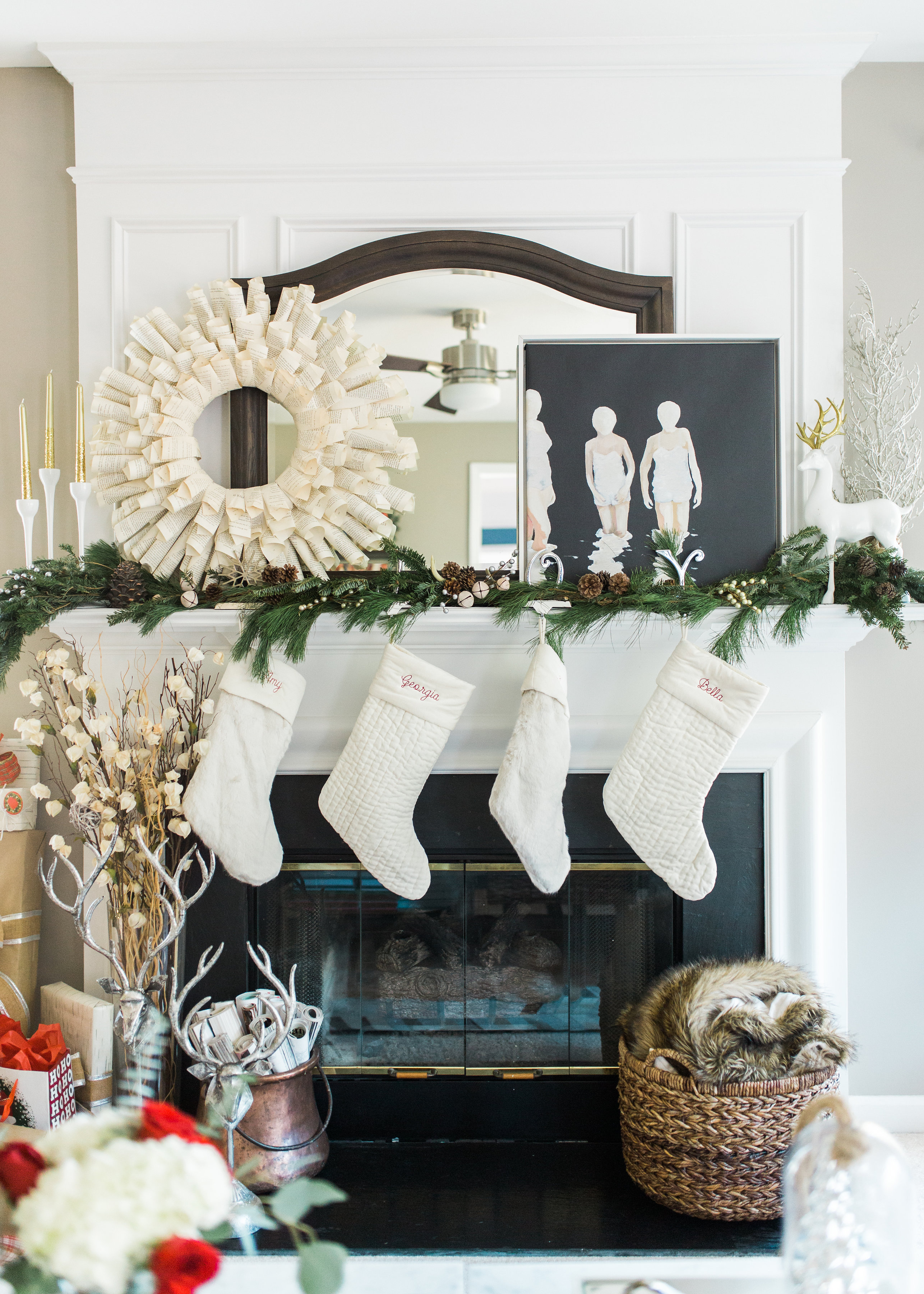 Our Christmas Home Decor by North Carolina style blogger Coffee Beans and Bobby Pins