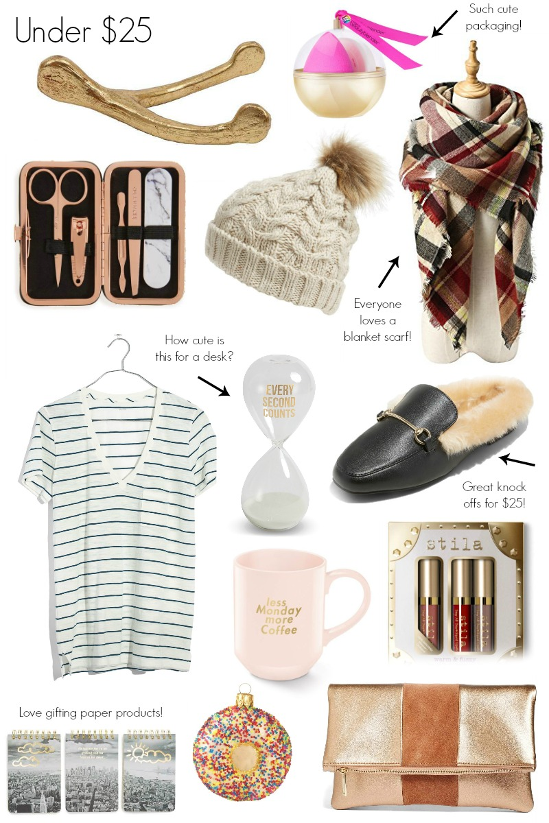Gift Guide for Her Under $25 by North Carolina style blogger Coffee Beans and Bobby Pins