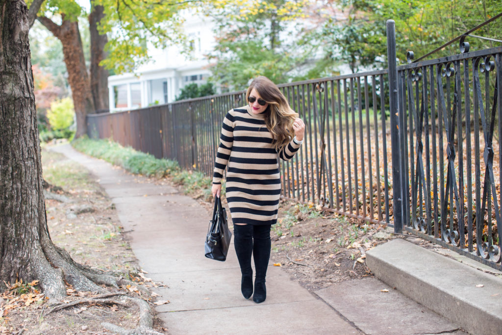 Perfect Striped Sweater Dress