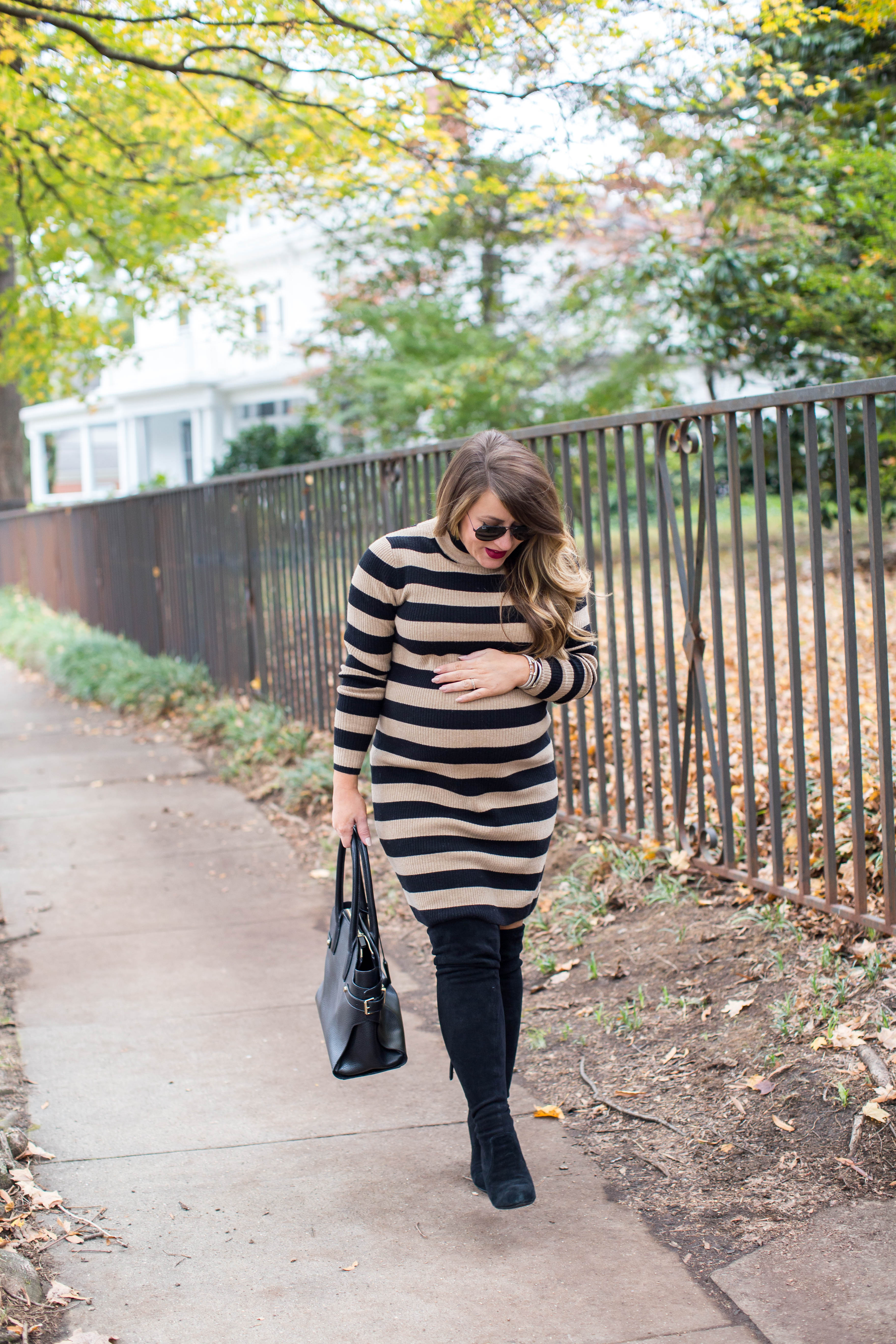 Perfect Striped Sweater Dress by North Carolina fashion blogger Coffee Beans and Bobby Pins