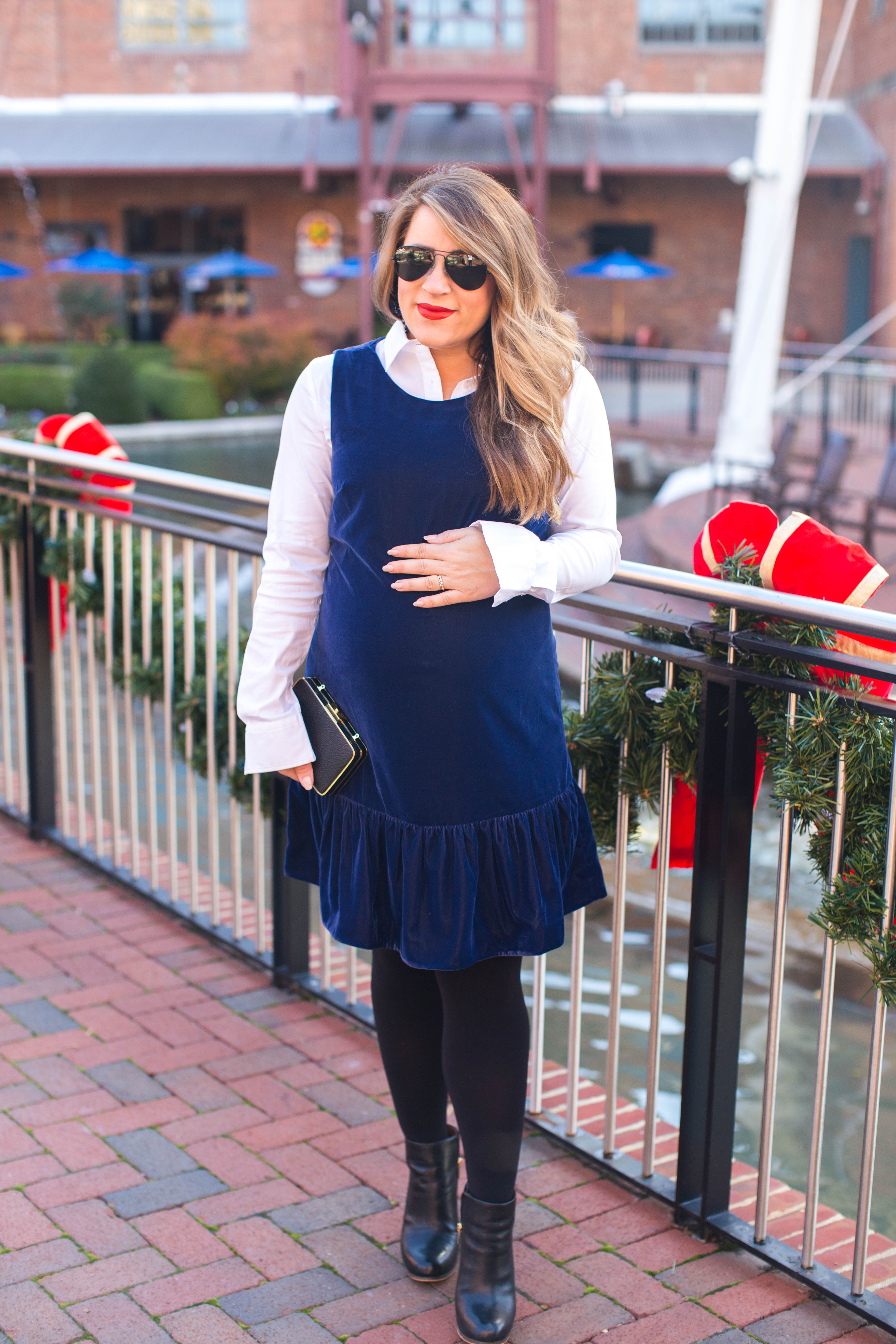 Velvet Party Dress Dressed Down by North Carolina fashion blogger Coffee Beans and Bobby Pins