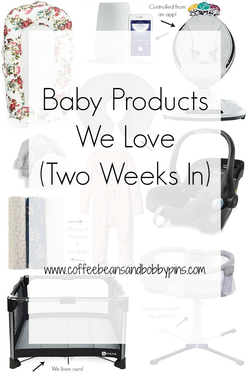 10 Essential Baby Products We Love Two Weeks In by popular North Carolina lifestyle blogger Coffee Beans and Bobby Pins