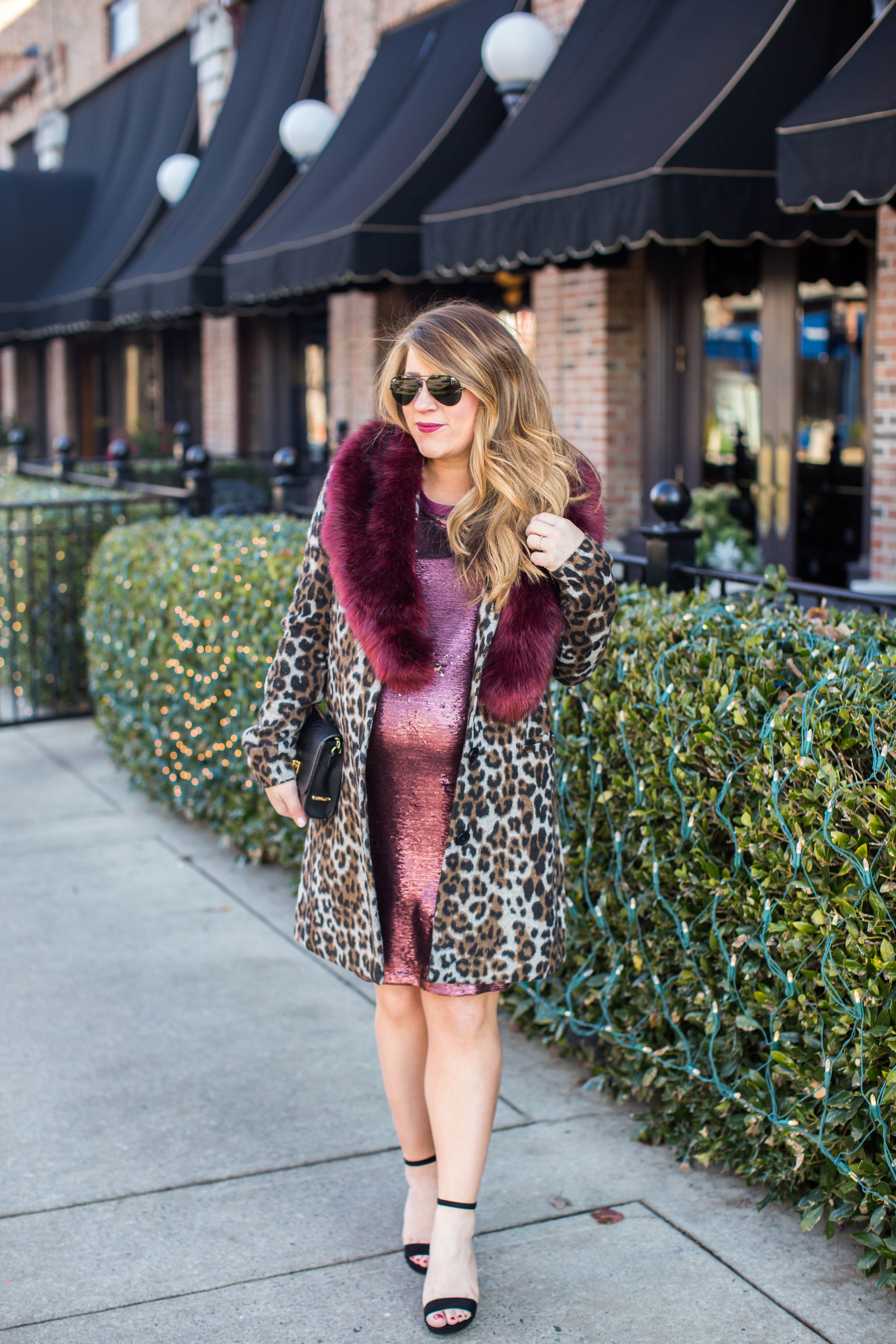 Sequin T Shirt Dress by popular North Carolina fashion blogger Coffee Beans and Bobby Pins