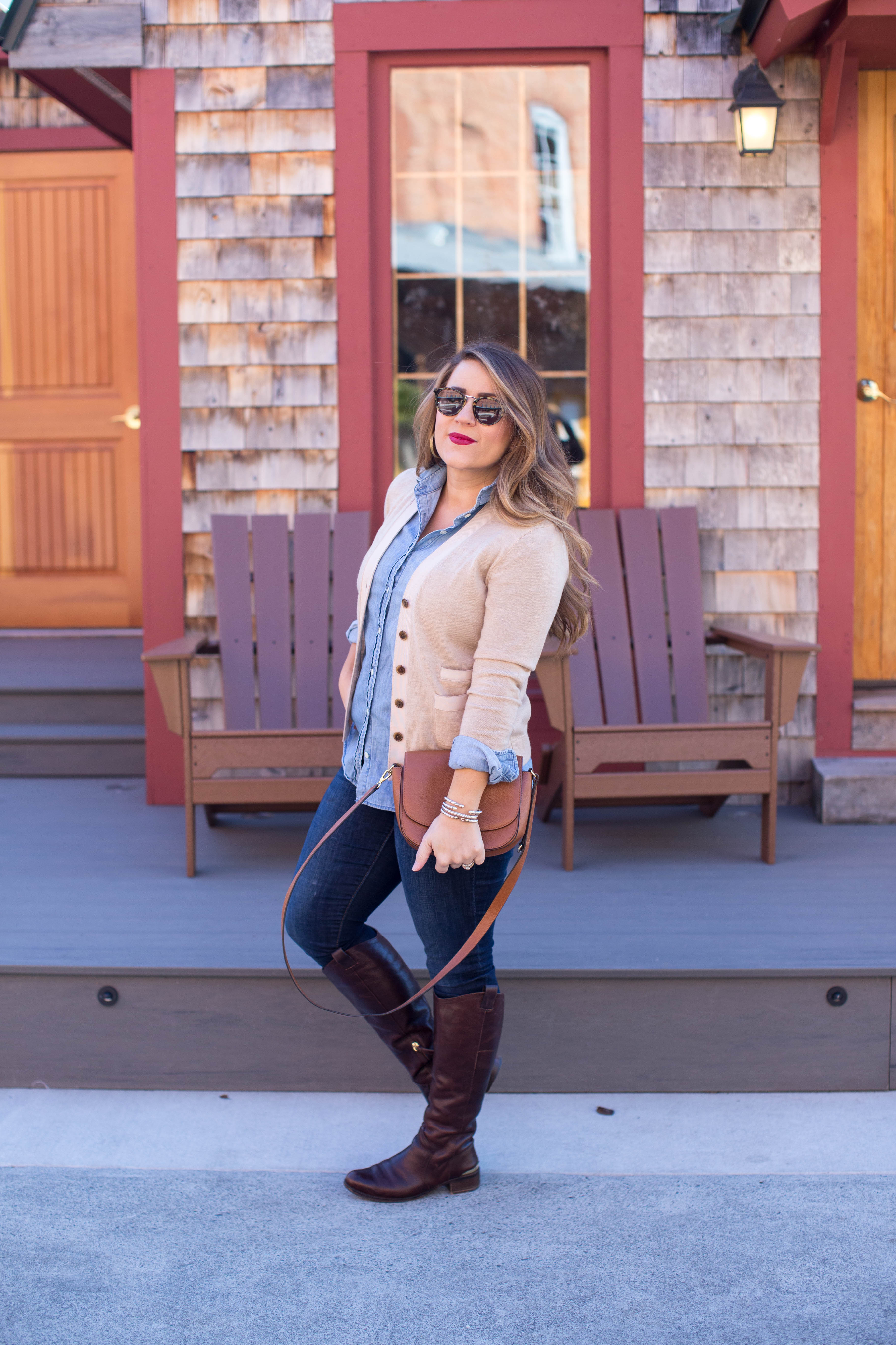 Go-To Cropped Cardigan by popular North Carolina fashion blogger Coffee Beans and Bobby Pins