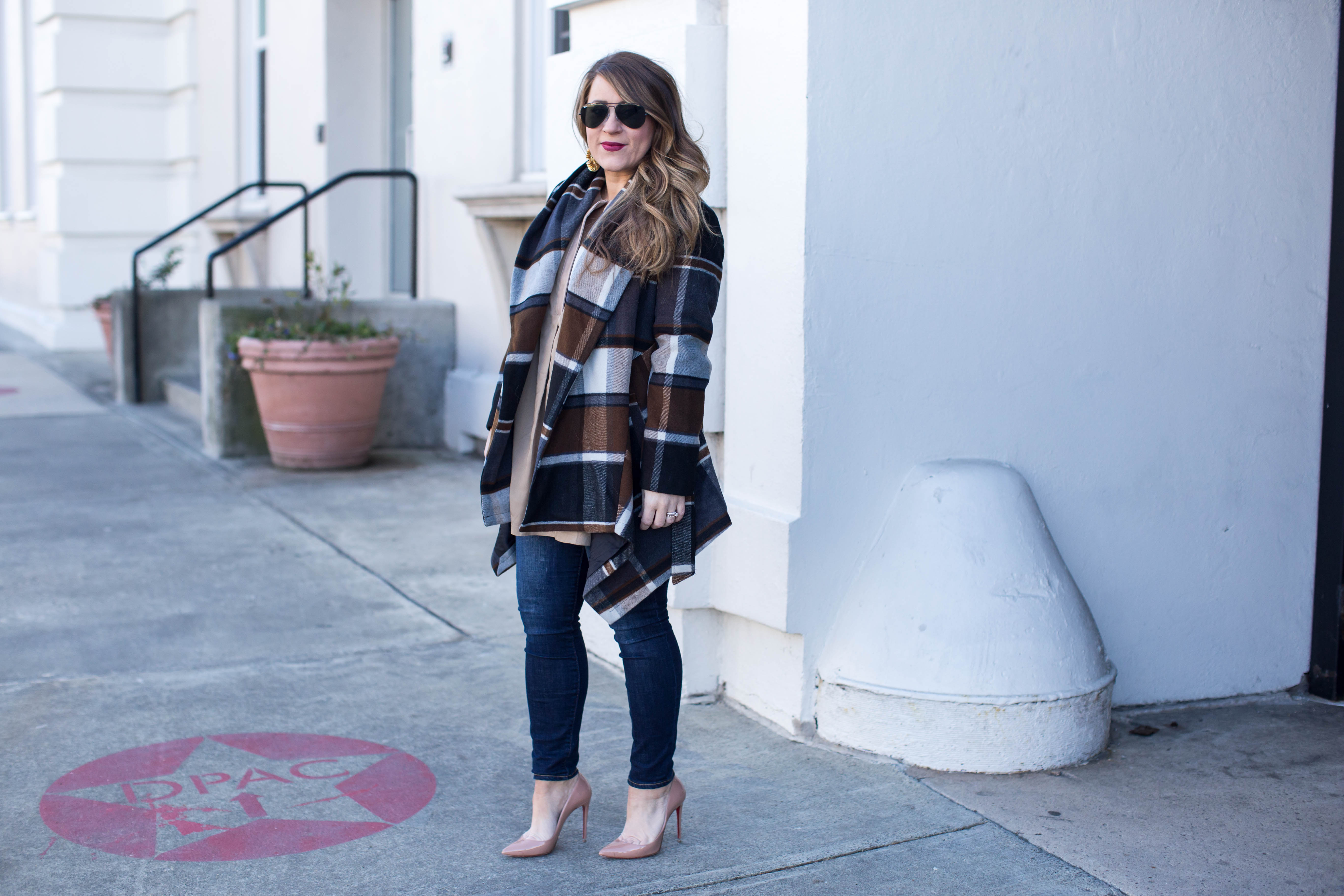 Versatile Plaid Coat by popular North Carolina fashion blogger Coffee Beans and Bobby Pins