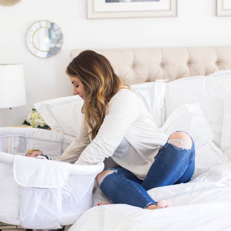 Why We Love Our Bedside Bassinet