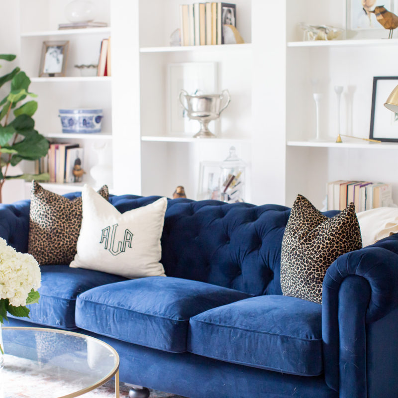 Our Front Living Room Reveal with my Grandin Road Sofa